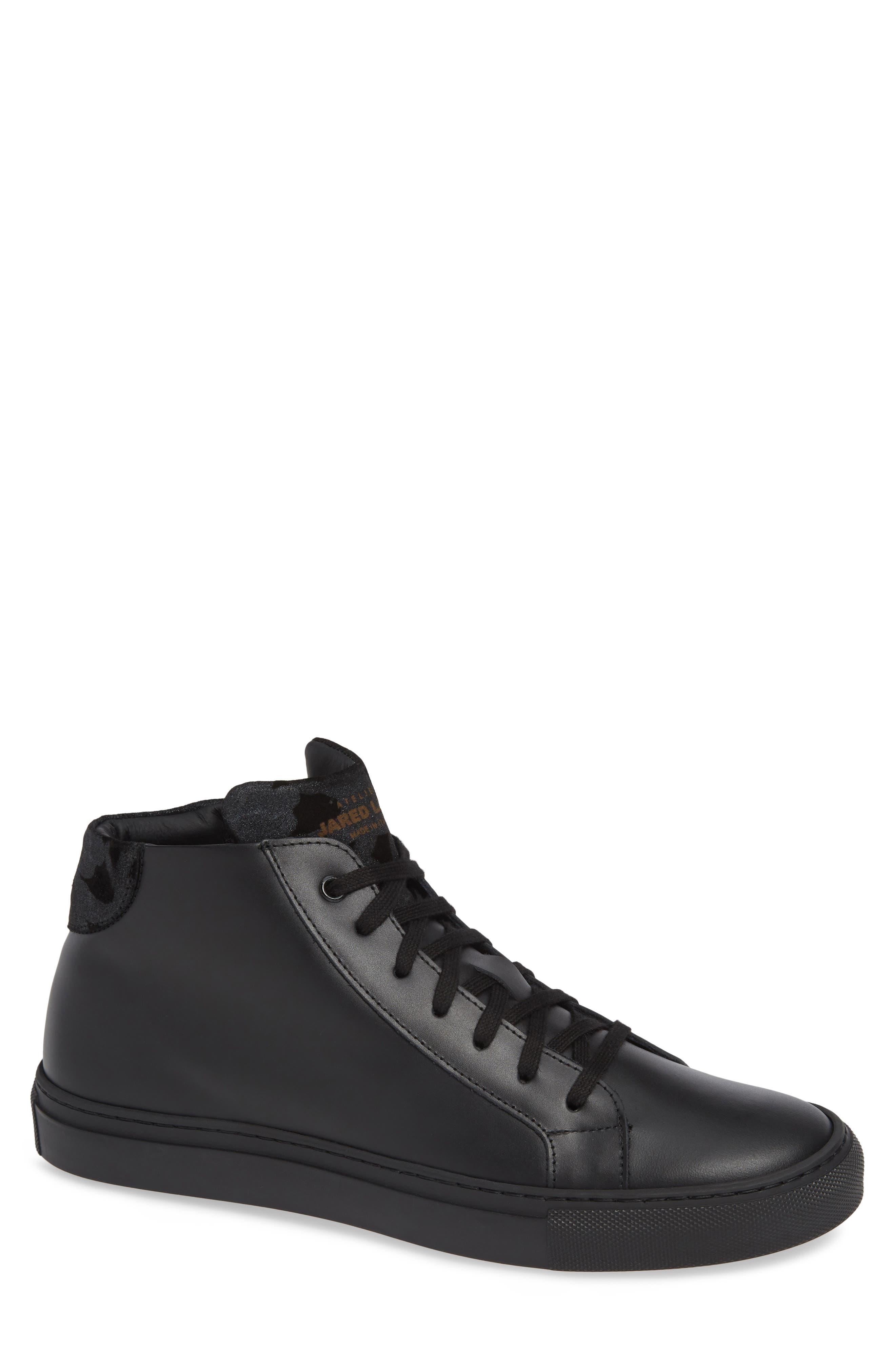 Rome High Top Sneaker,                             Main thumbnail 1, color,                             BLACK