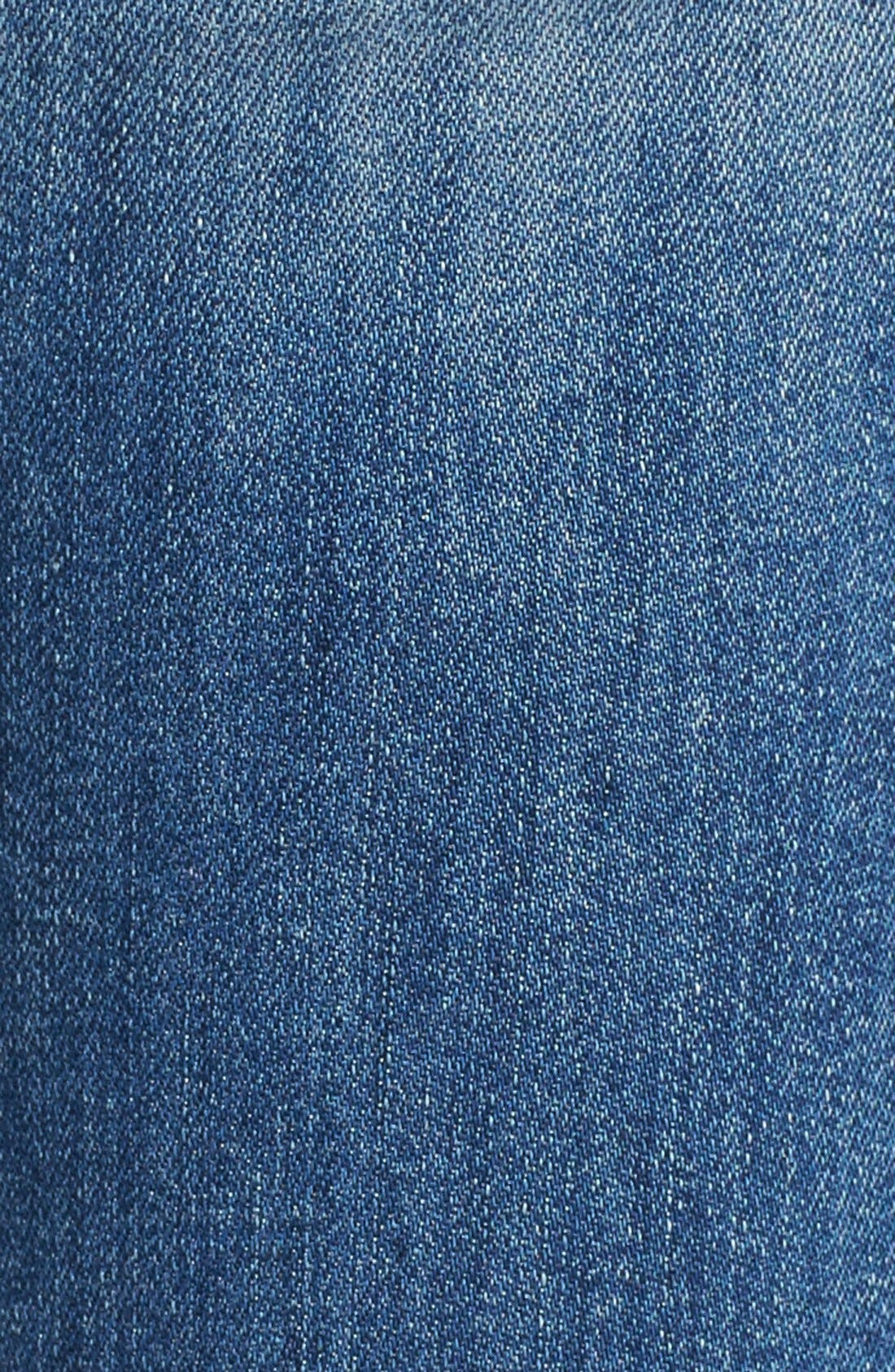 'Muse' Cuff Crop Jeans,                             Alternate thumbnail 4, color,                             INDIE