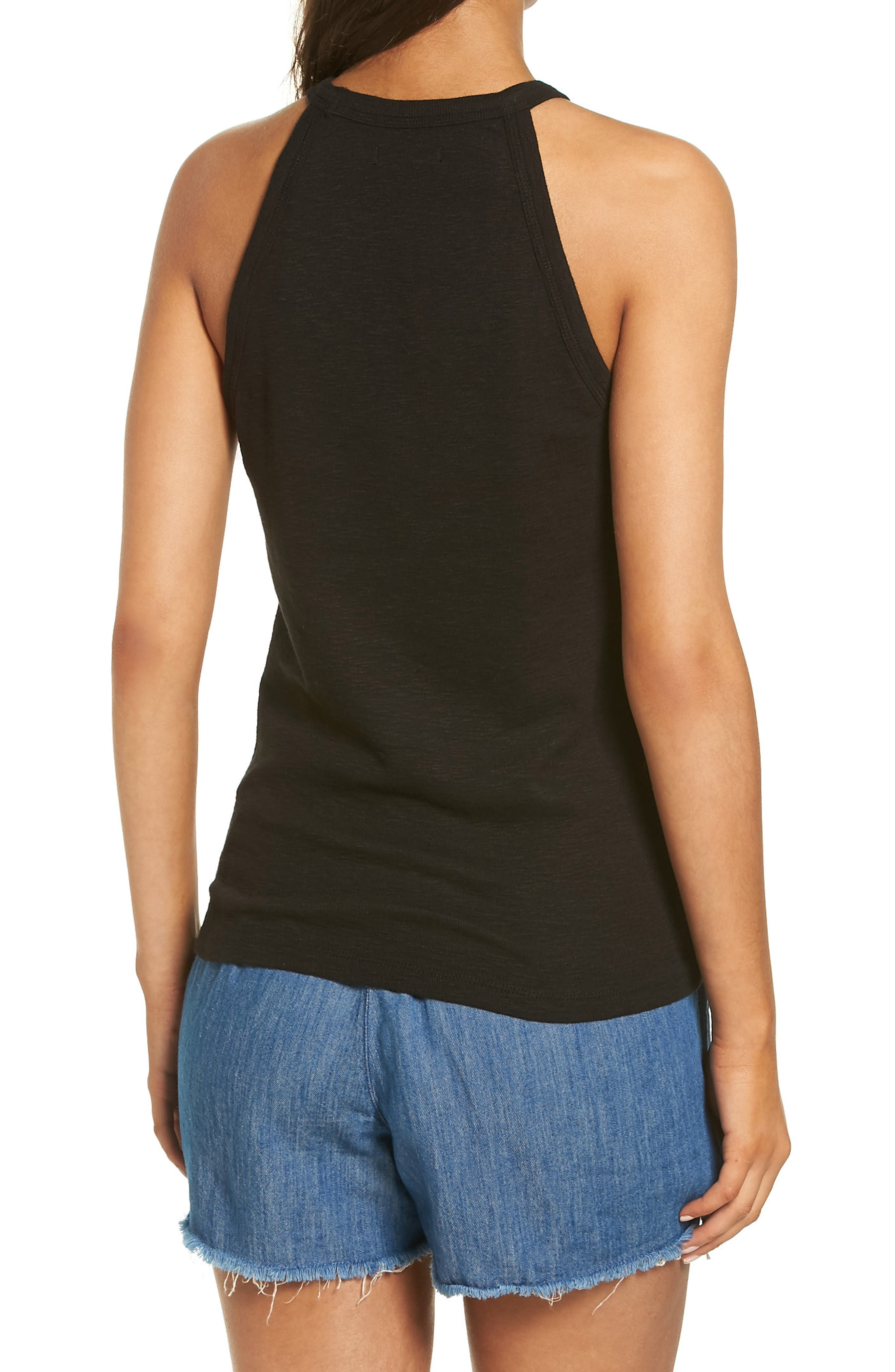 Timeoff High Neck Tank,                             Alternate thumbnail 4, color,