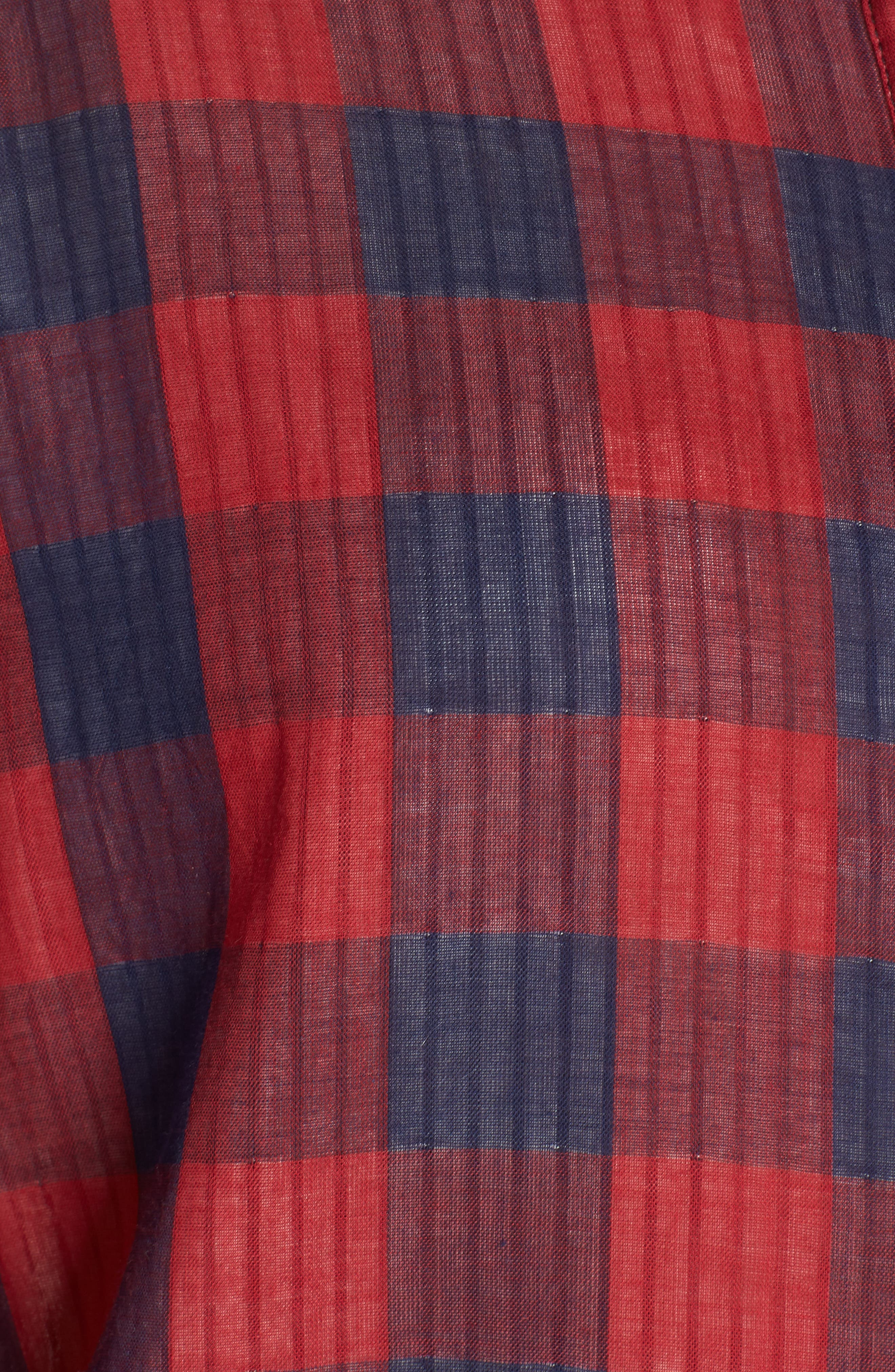 Check Nightshirt,                             Alternate thumbnail 5, color,                             RED