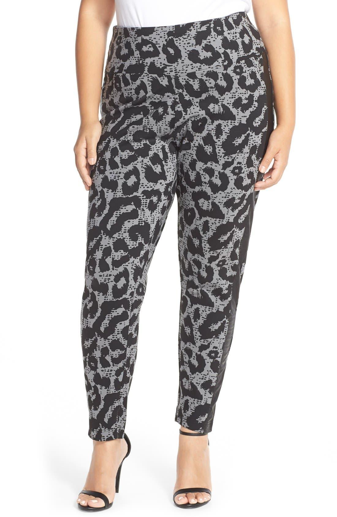 Tuxedo Stripe Ponte Pants,                         Main,                         color, 037