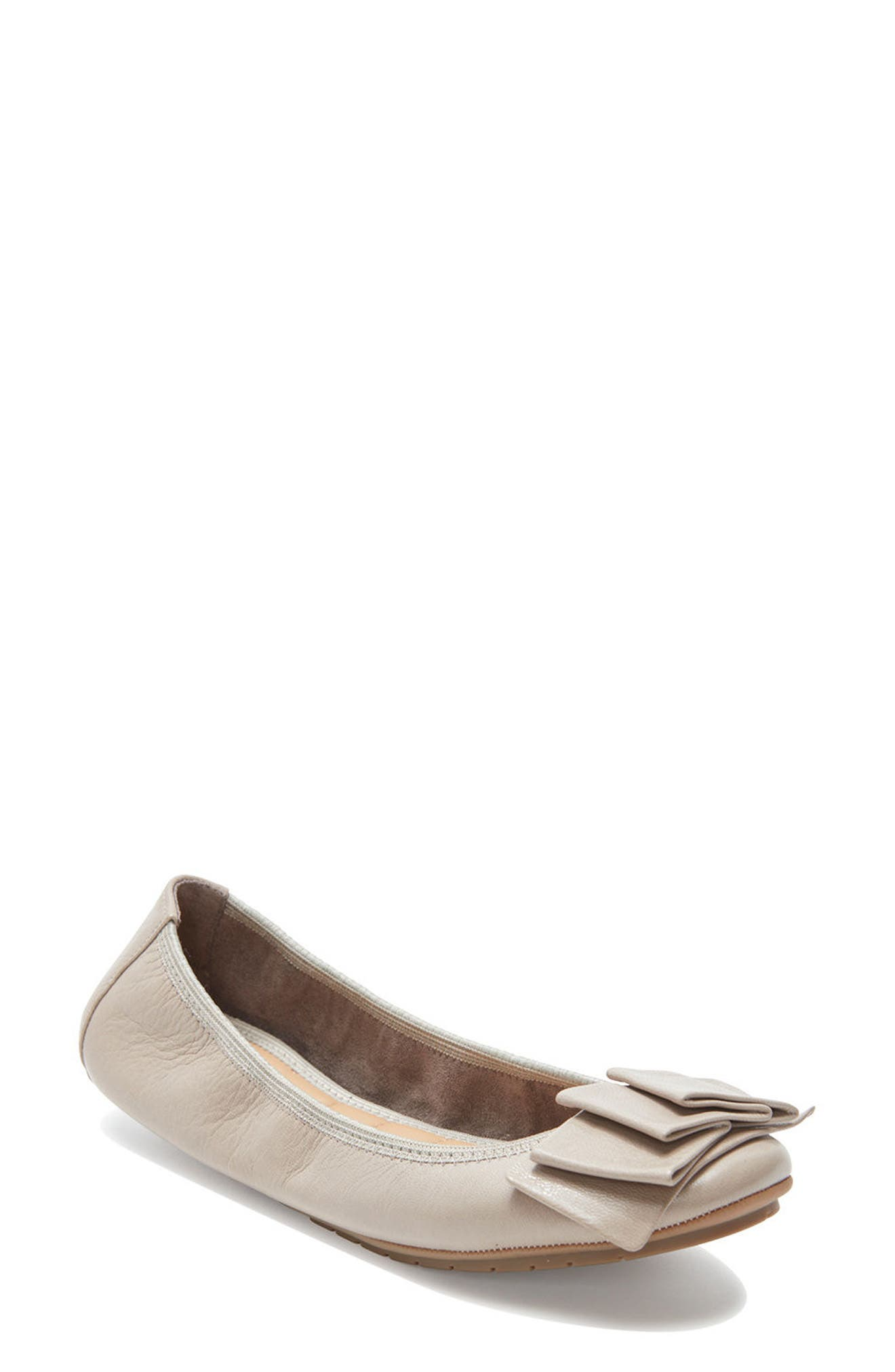'Lilyana 2.0' Flat,                             Main thumbnail 1, color,                             LIGHT GREY LEATHER