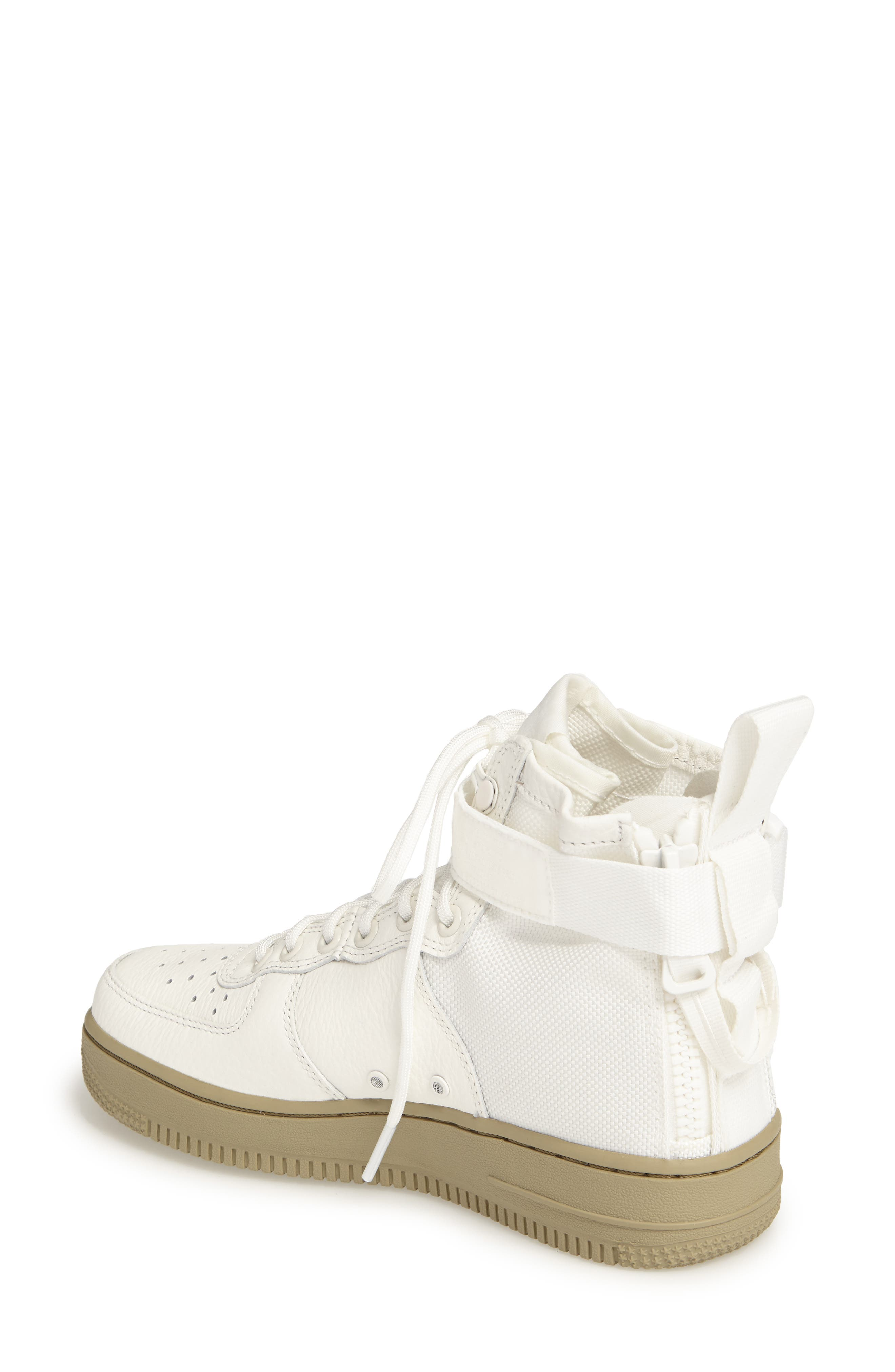 SF Air Force 1 Mid Sneaker,                             Alternate thumbnail 2, color,                             IVORY/IVORY-MARS STONE