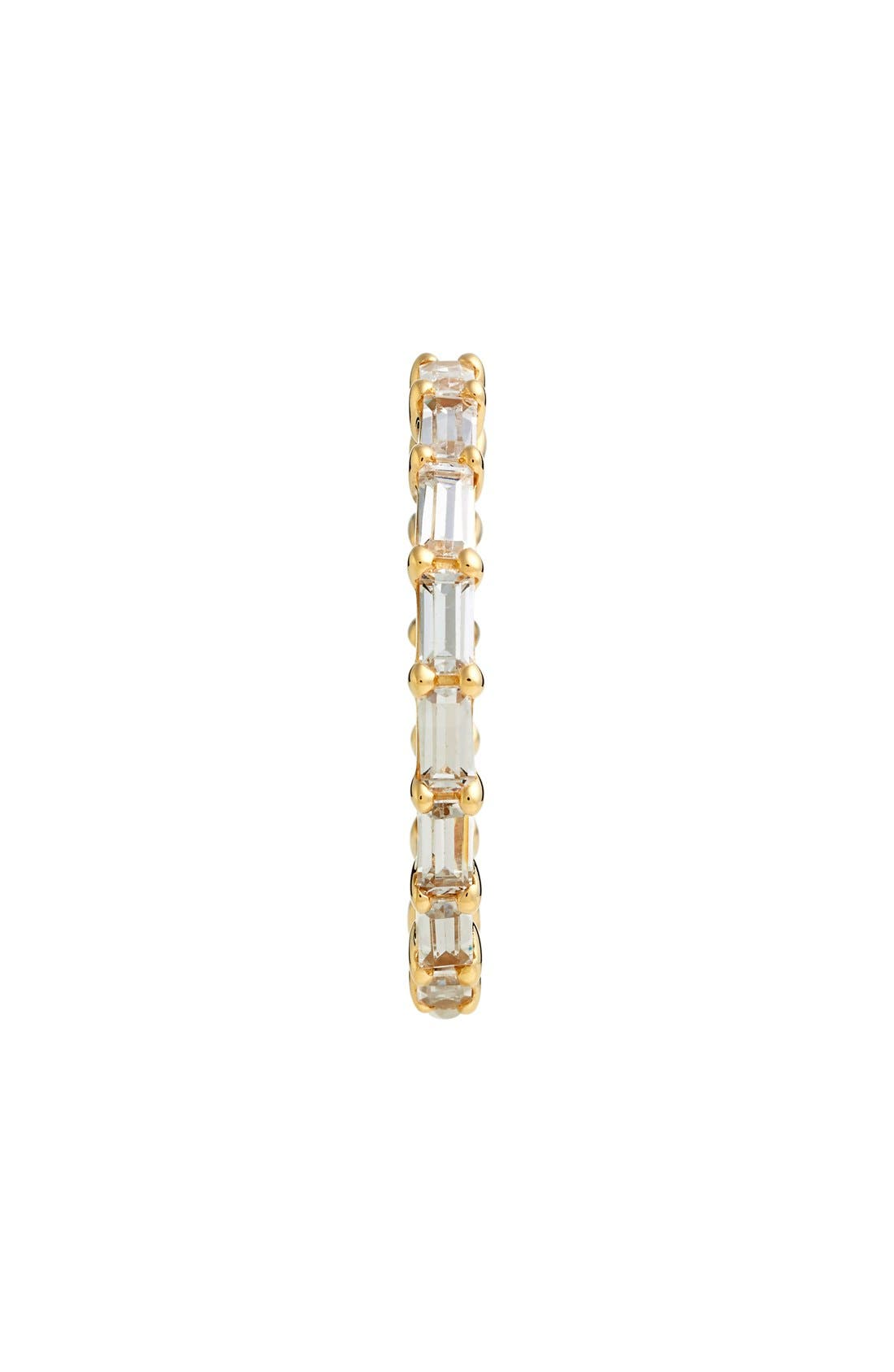 Stackable Cubic Zirconia Baguette Ring,                             Alternate thumbnail 2, color,                             GOLD