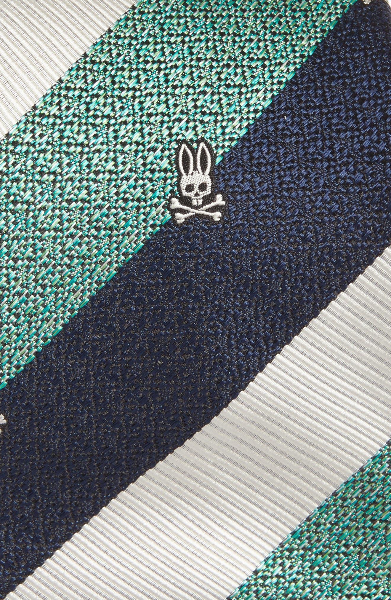 Wide Stripe Silk Tie,                             Alternate thumbnail 6, color,