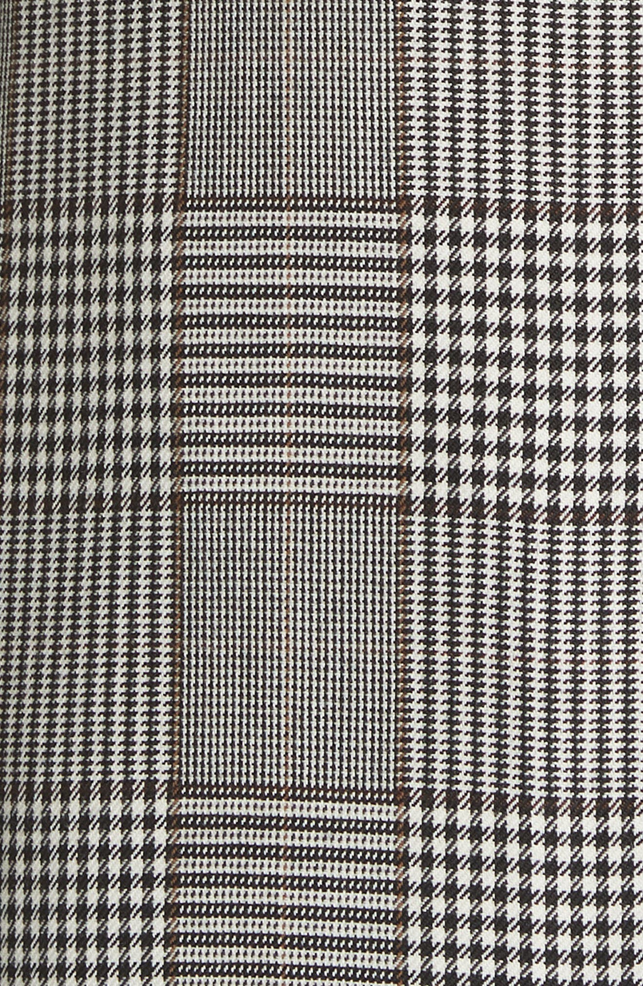 Plaid Overcoat,                             Alternate thumbnail 6, color,                             BROWN