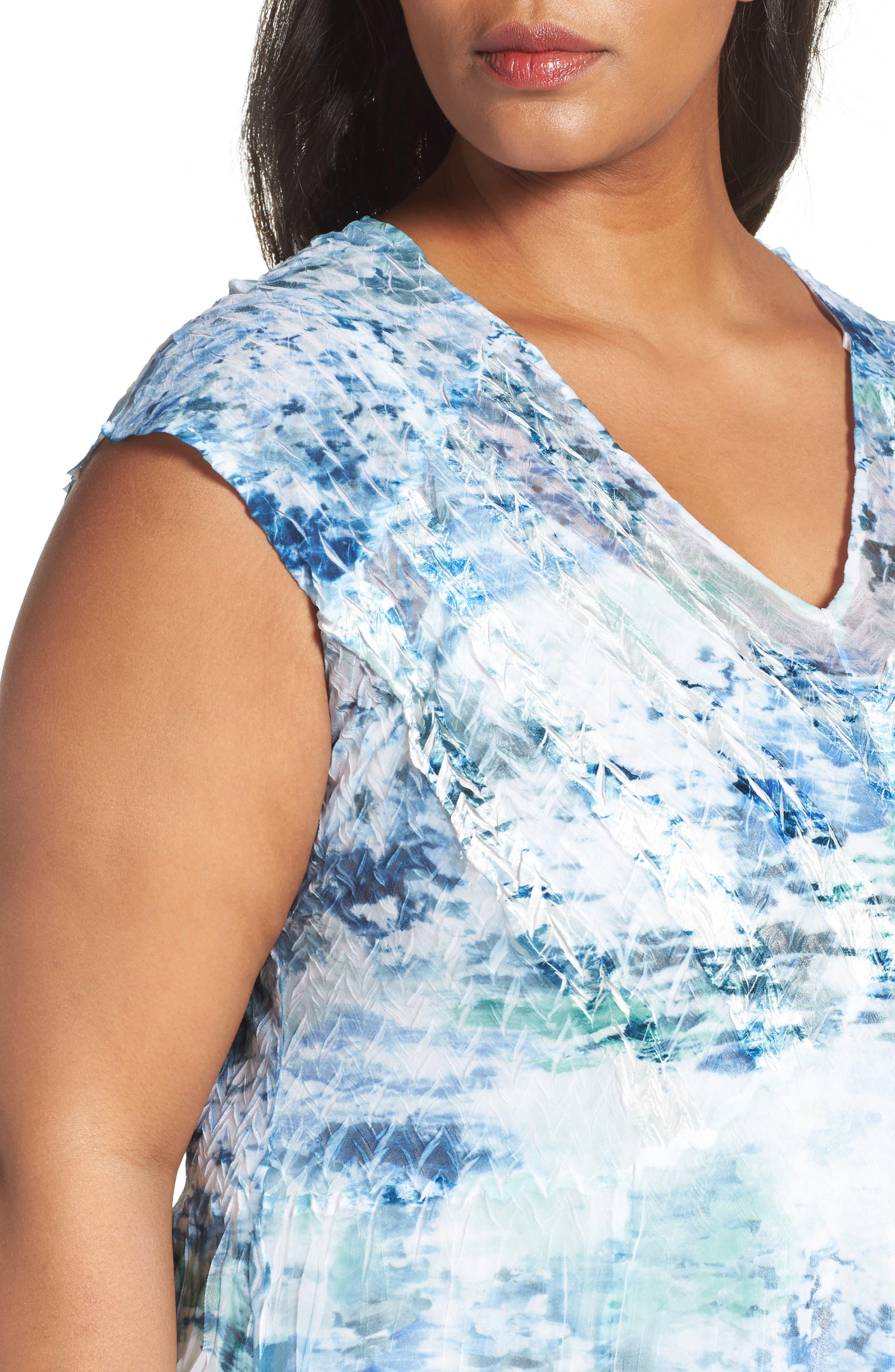 Print Chiffon A-Line Dress,                             Alternate thumbnail 4, color,                             469