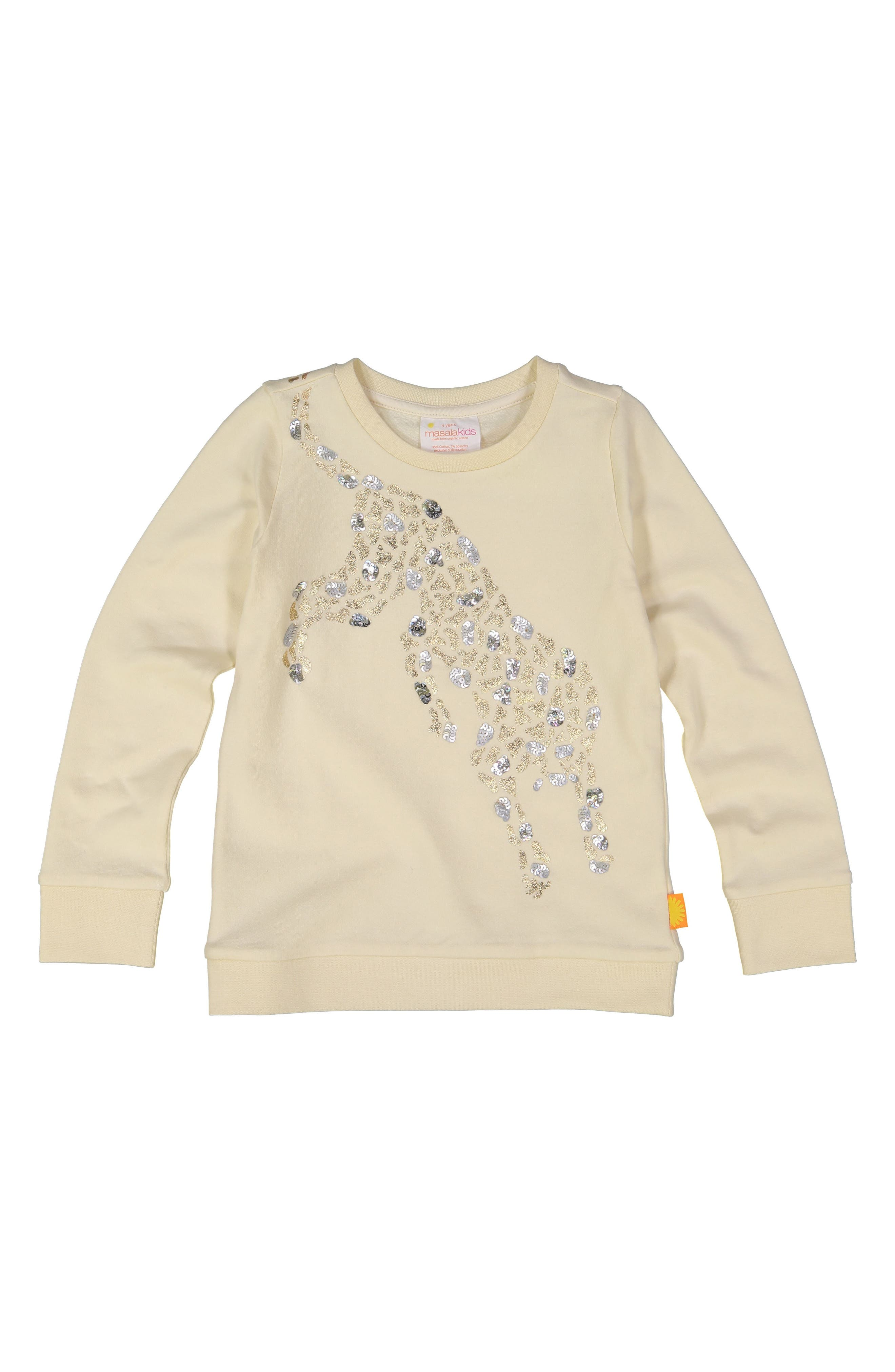 Cheetah Organic Cotton Sweatshirt,                             Main thumbnail 1, color,                             100