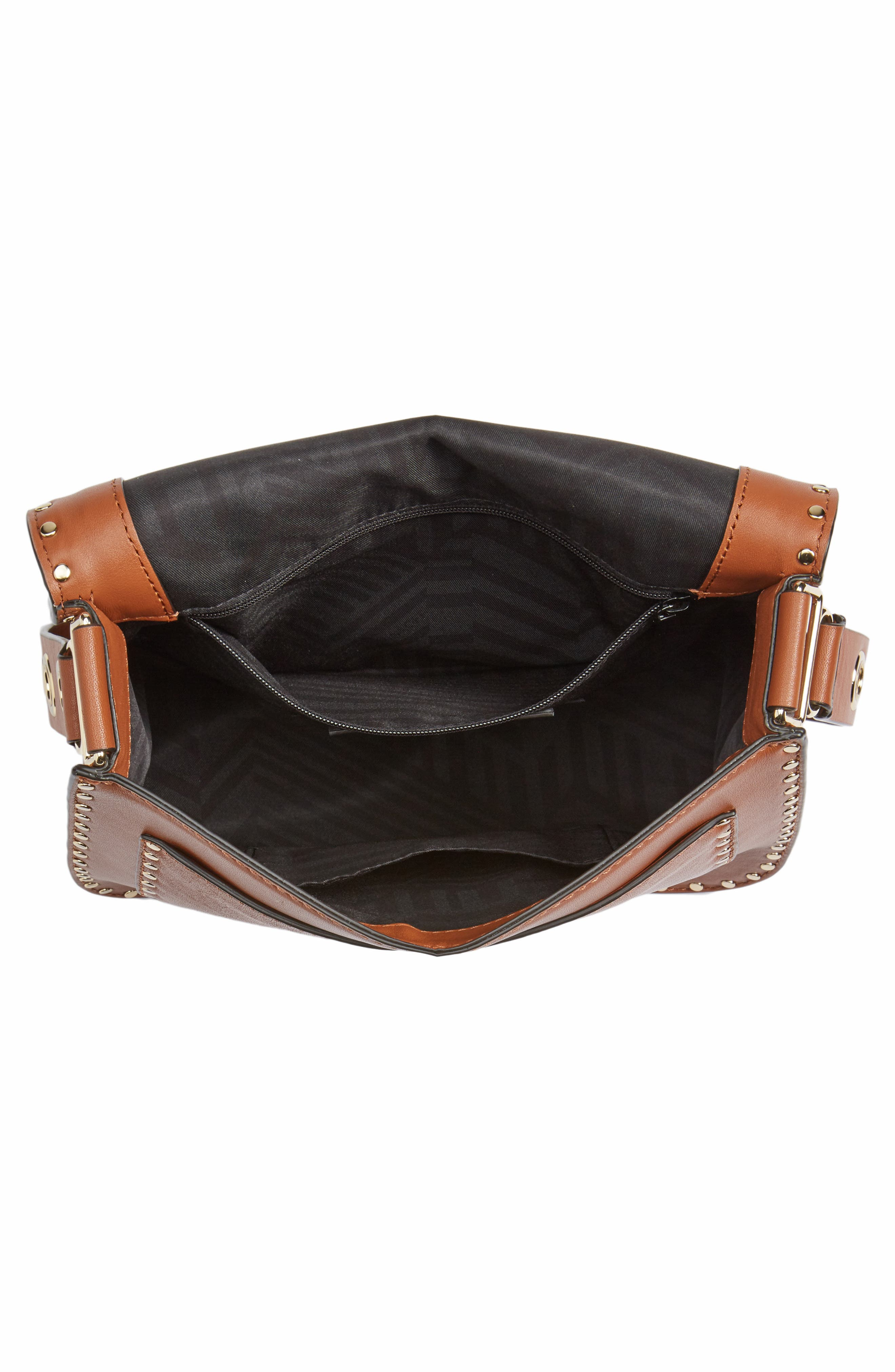 Large Midnighter Leather Crossbody Bag,                             Alternate thumbnail 4, color,                             230