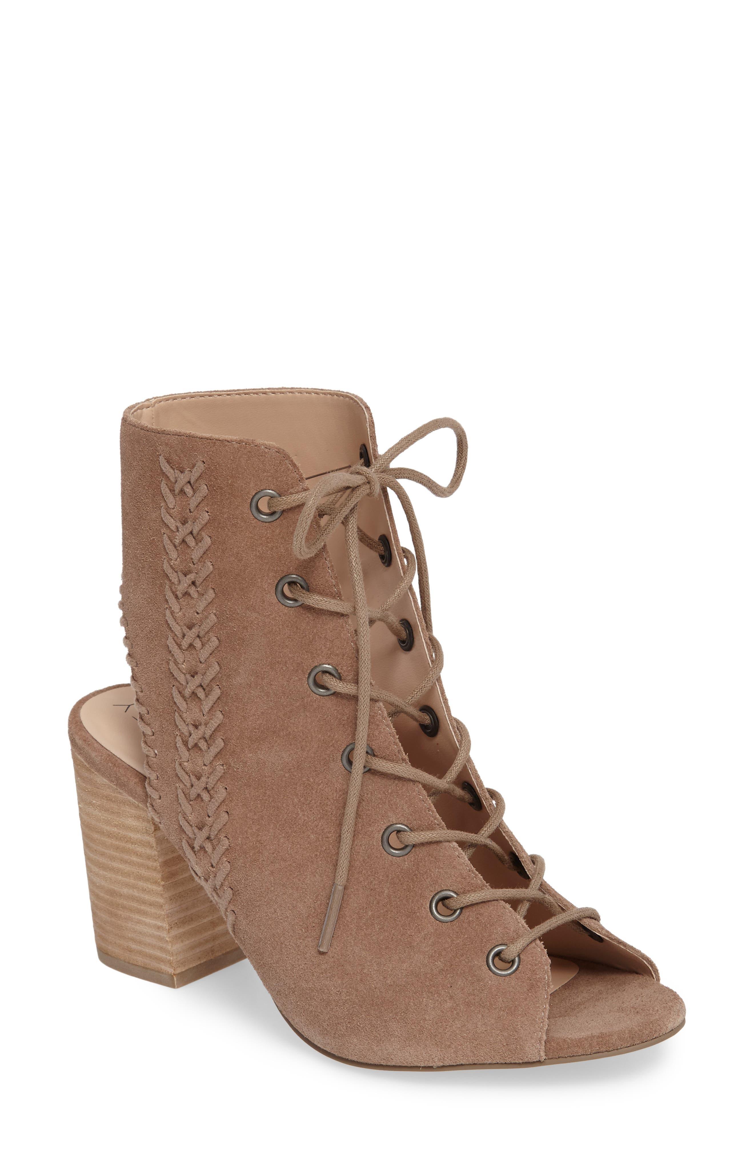 Rohan Lace-Up Bootie Sandal,                         Main,                         color,