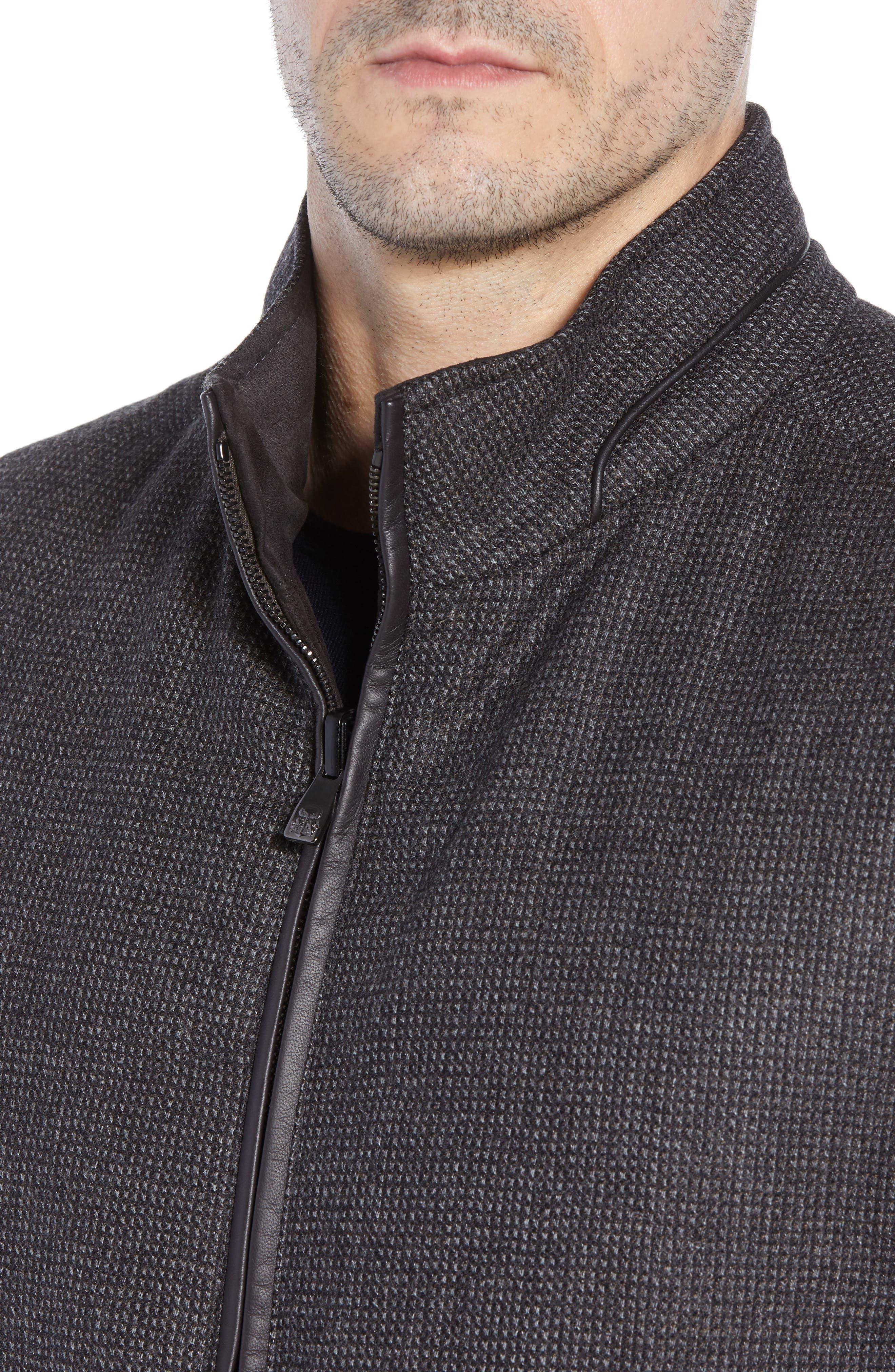 Classic Fit Reversible Vest,                             Alternate thumbnail 5, color,                             BROWN