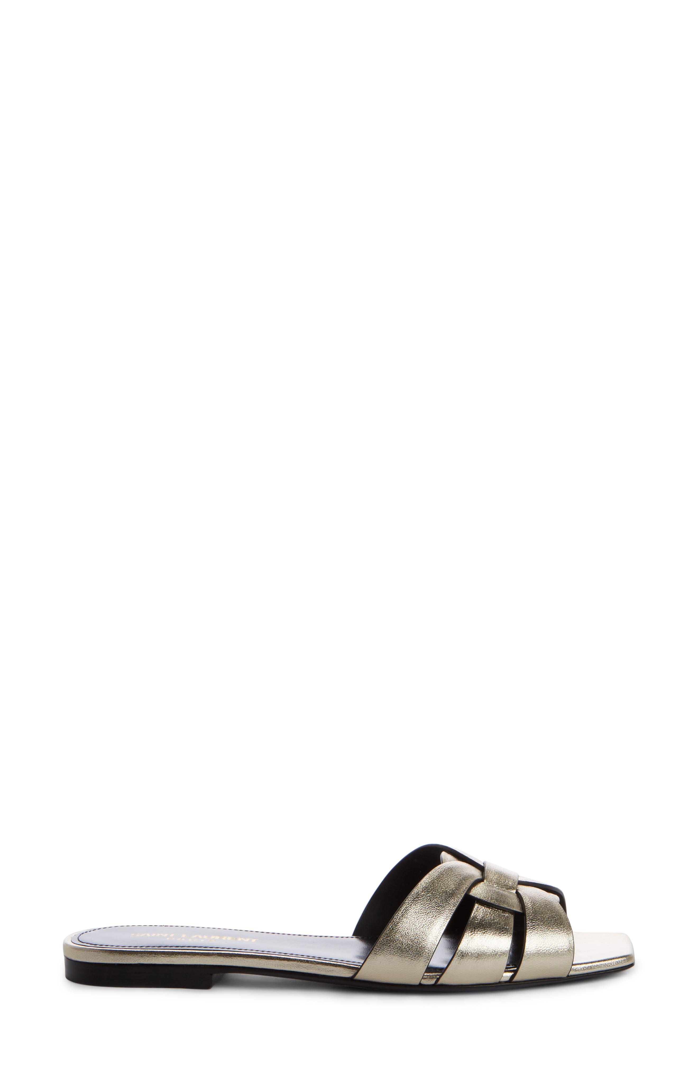 Nu Pieds Strappy Slide Sandal,                             Alternate thumbnail 3, color,                             7100 OR PALE