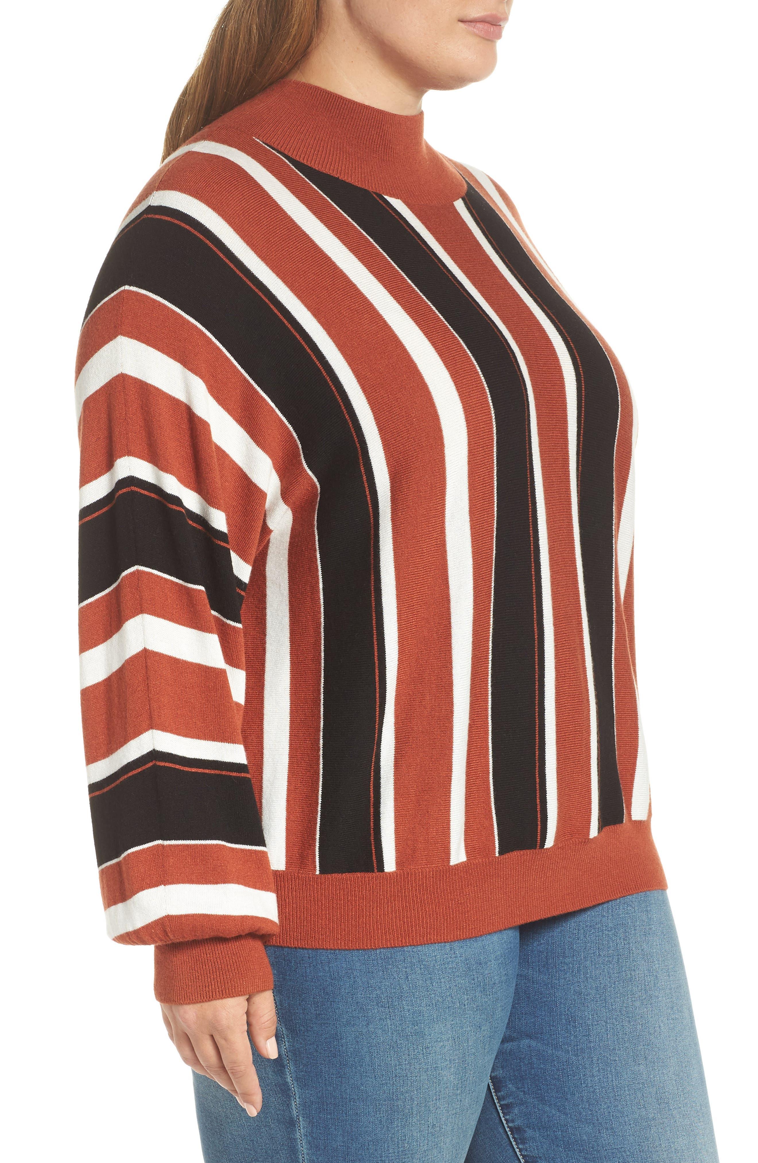 Stripe Dolman Sleeve Sweater,                             Alternate thumbnail 9, color,                             210