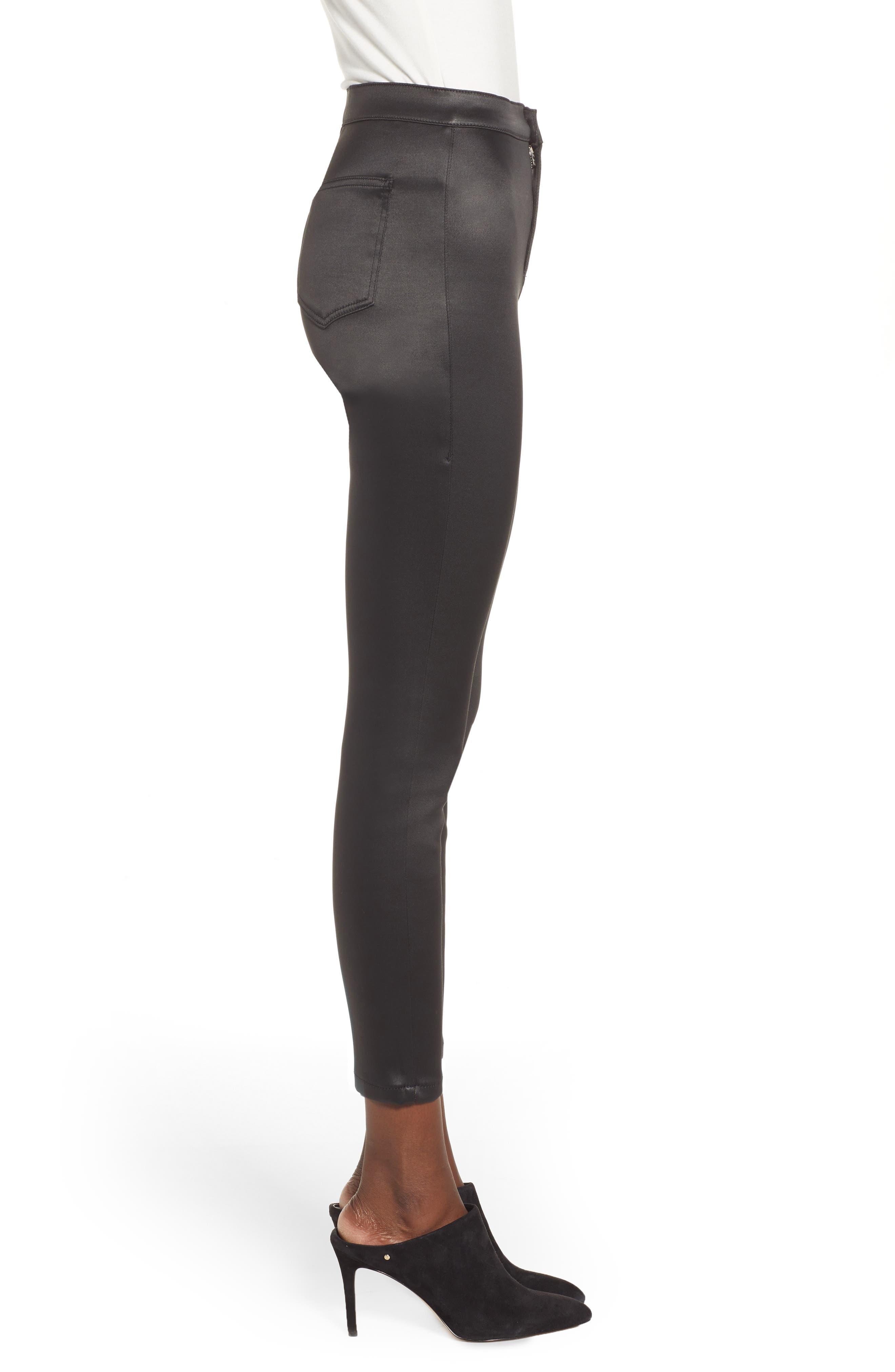Joni Skinny Pants,                             Alternate thumbnail 3, color,                             BLACK