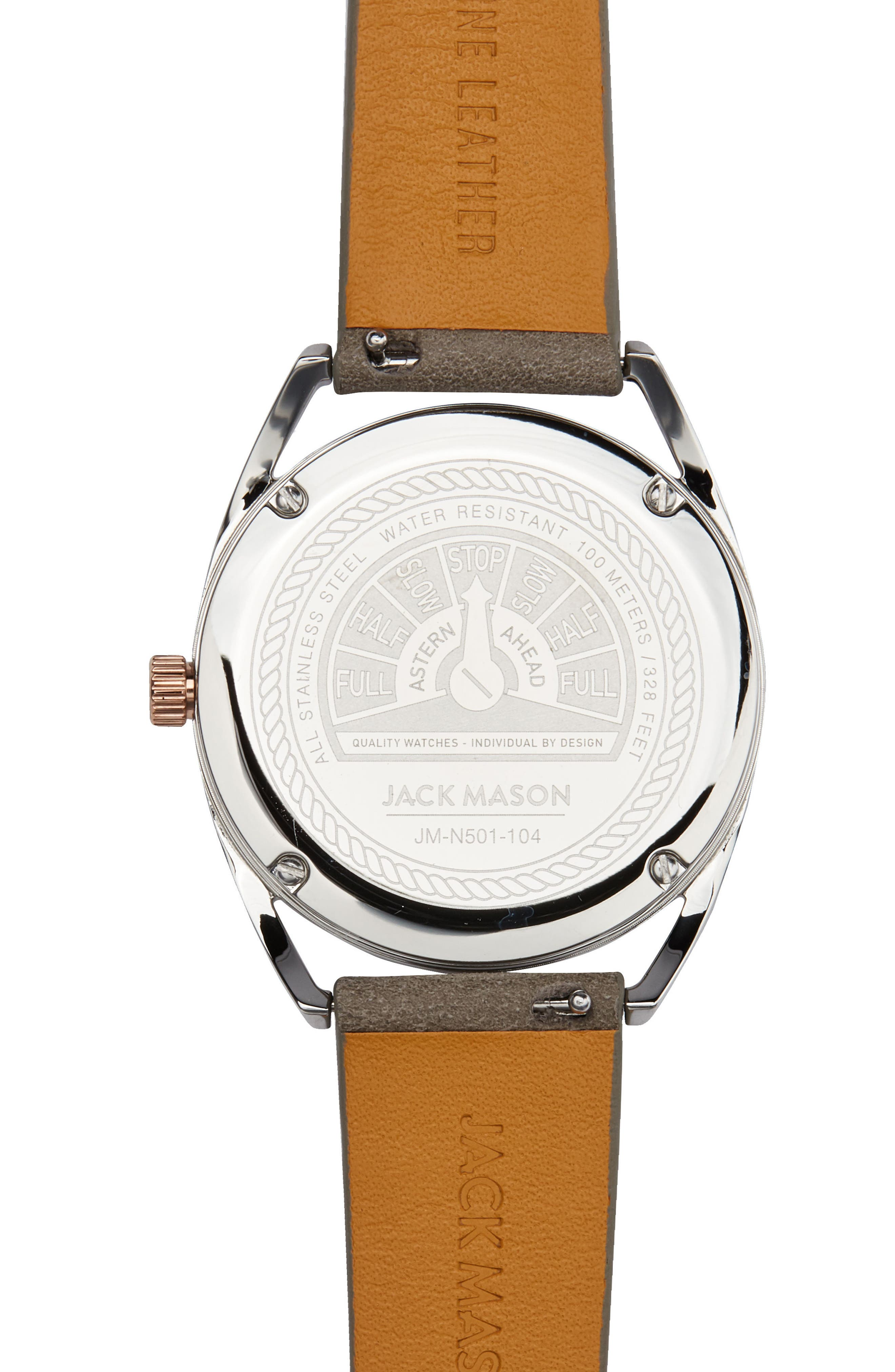 Deck Leather Strap Watch, 36mm,                             Alternate thumbnail 7, color,