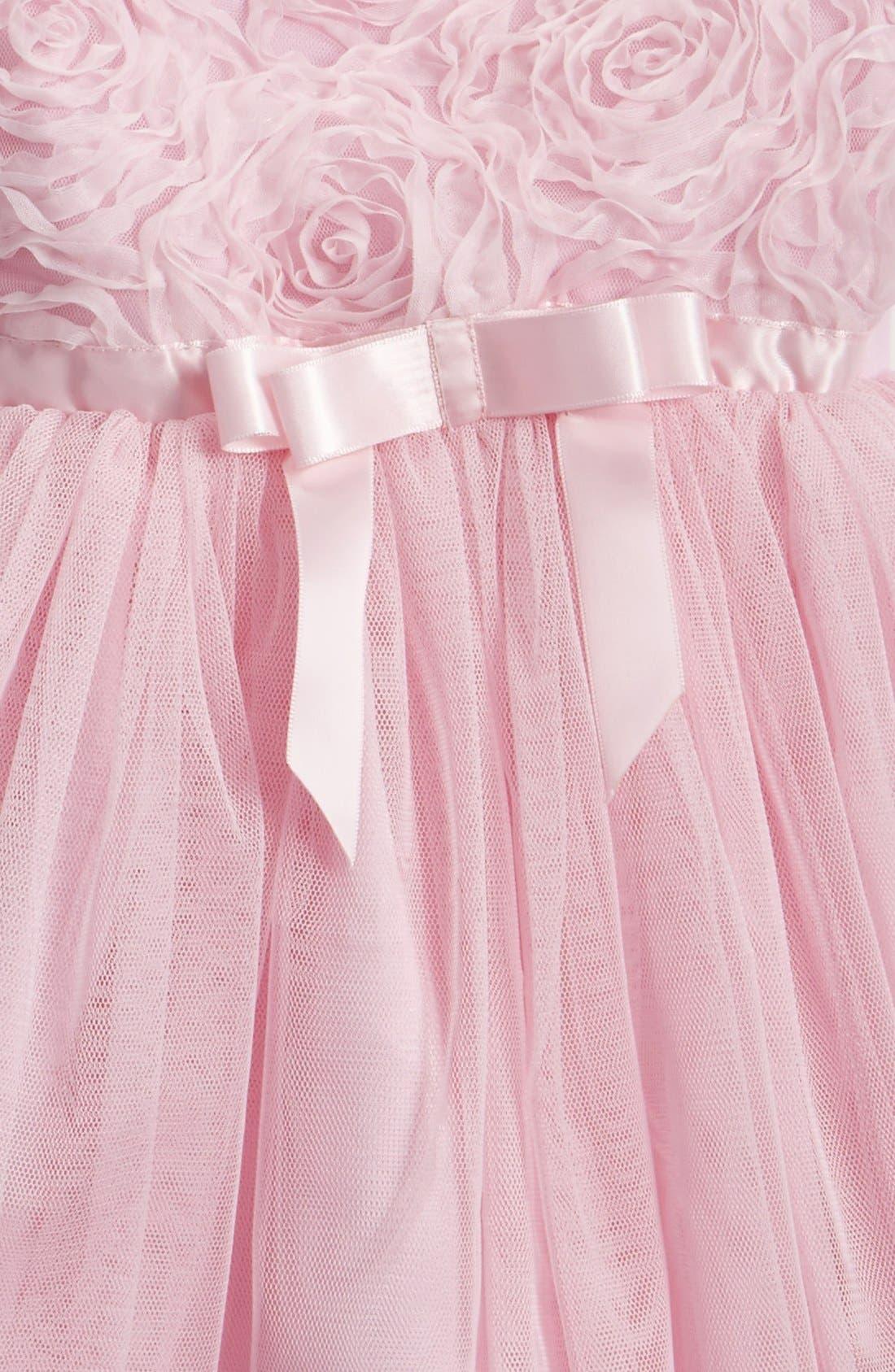 Short Sleeve Tulle Dress,                             Alternate thumbnail 3, color,                             PINK