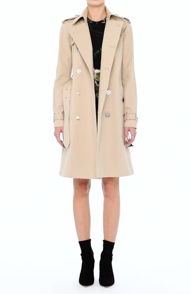 Alternate Video 10  - Adam Lippes Embellished Button Trench Coat