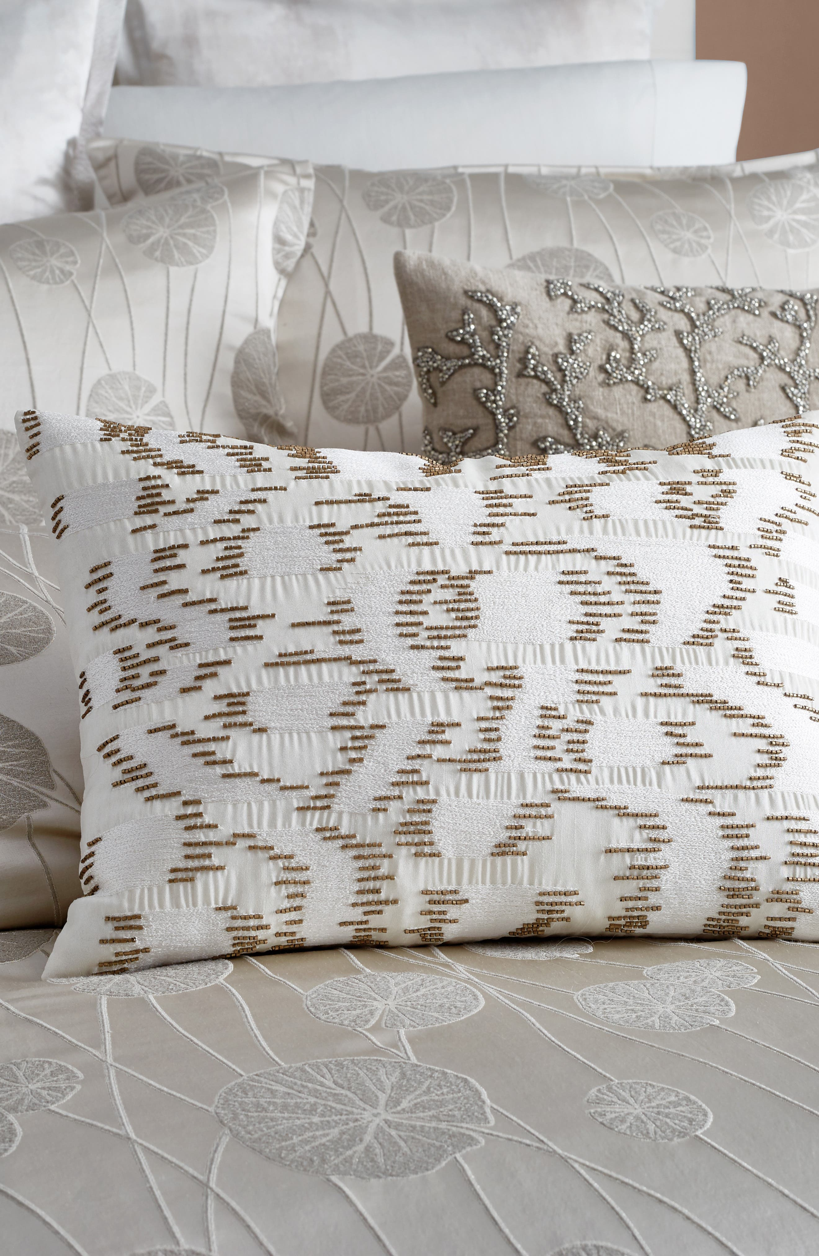 MICHAEL ARAM,                             Beaded & Embroidered Accent Pillow,                             Alternate thumbnail 3, color,                             900