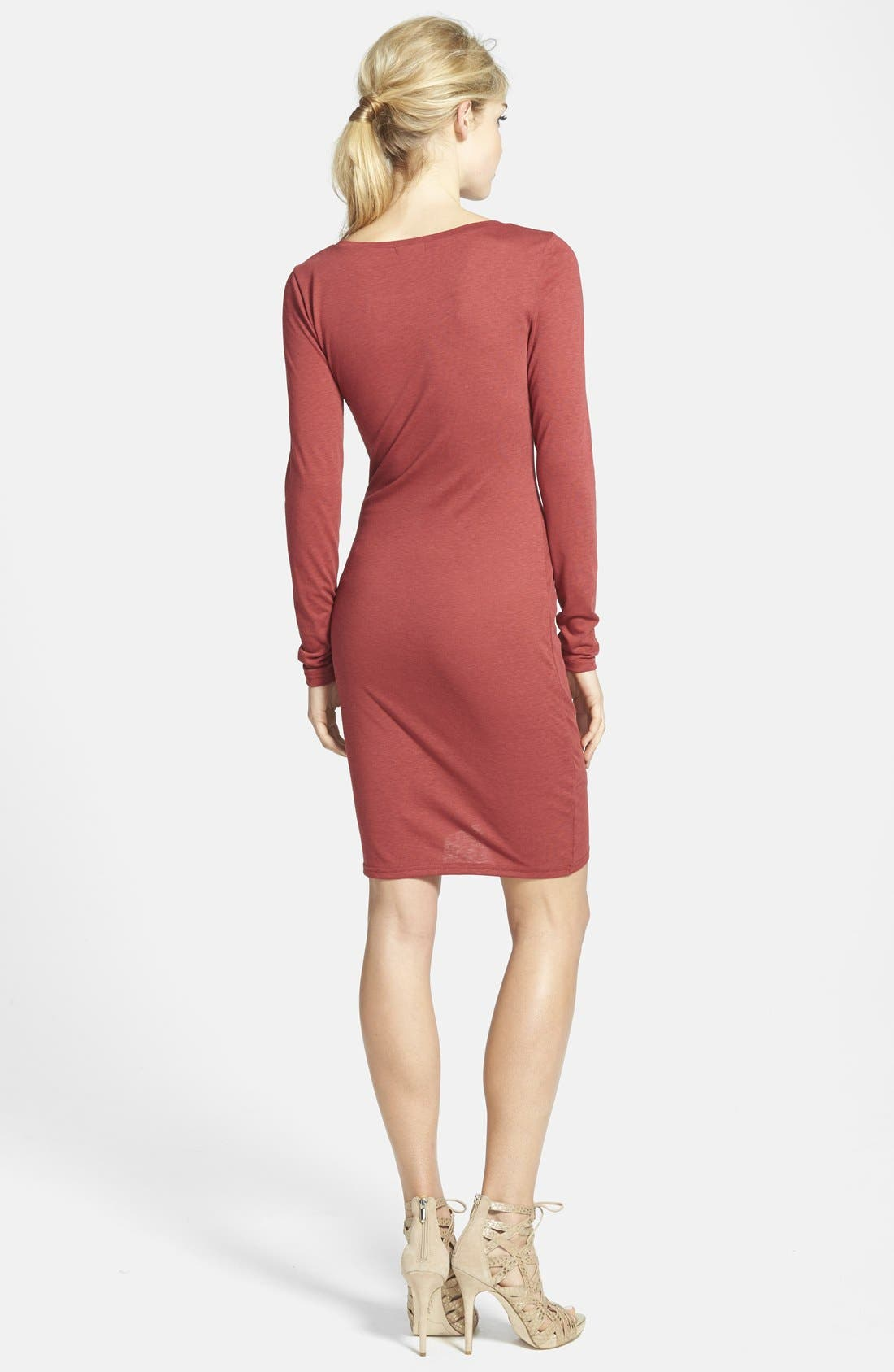 Ruched Long Sleeve Dress,                             Alternate thumbnail 72, color,