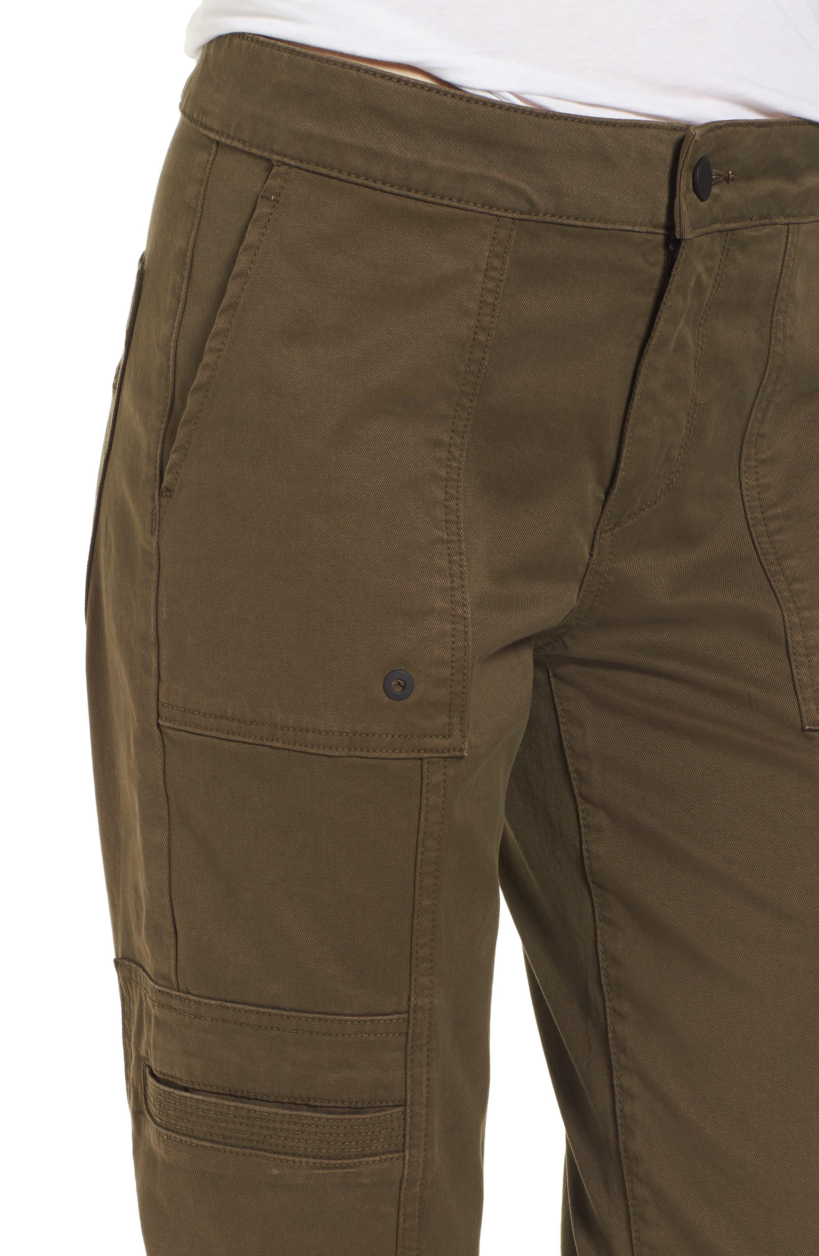 Elliot Slouchy Slim Cargo Pants,                             Alternate thumbnail 4, color,                             205