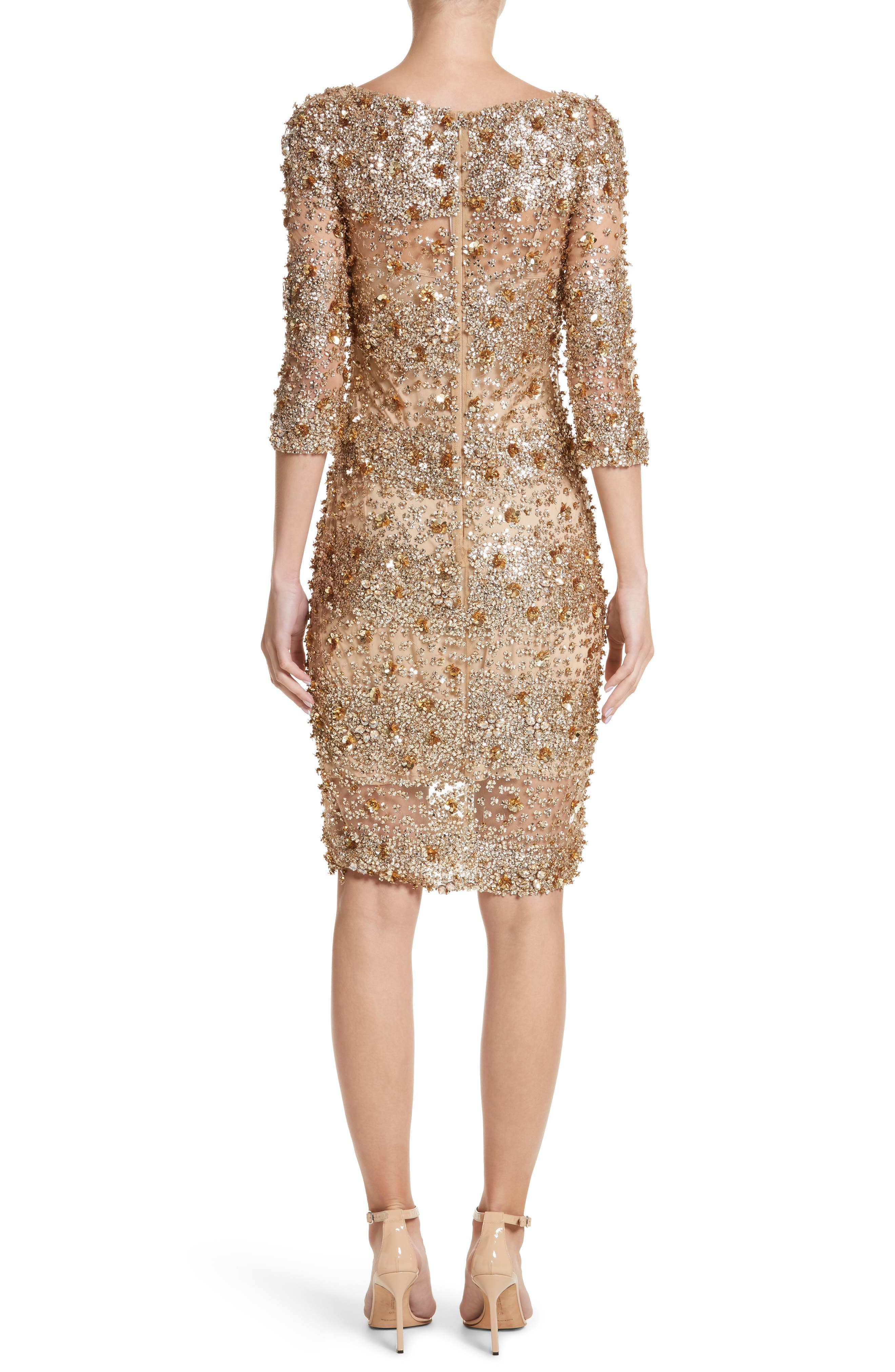 Embellished Dégradé Sheath Dress,                             Alternate thumbnail 2, color,