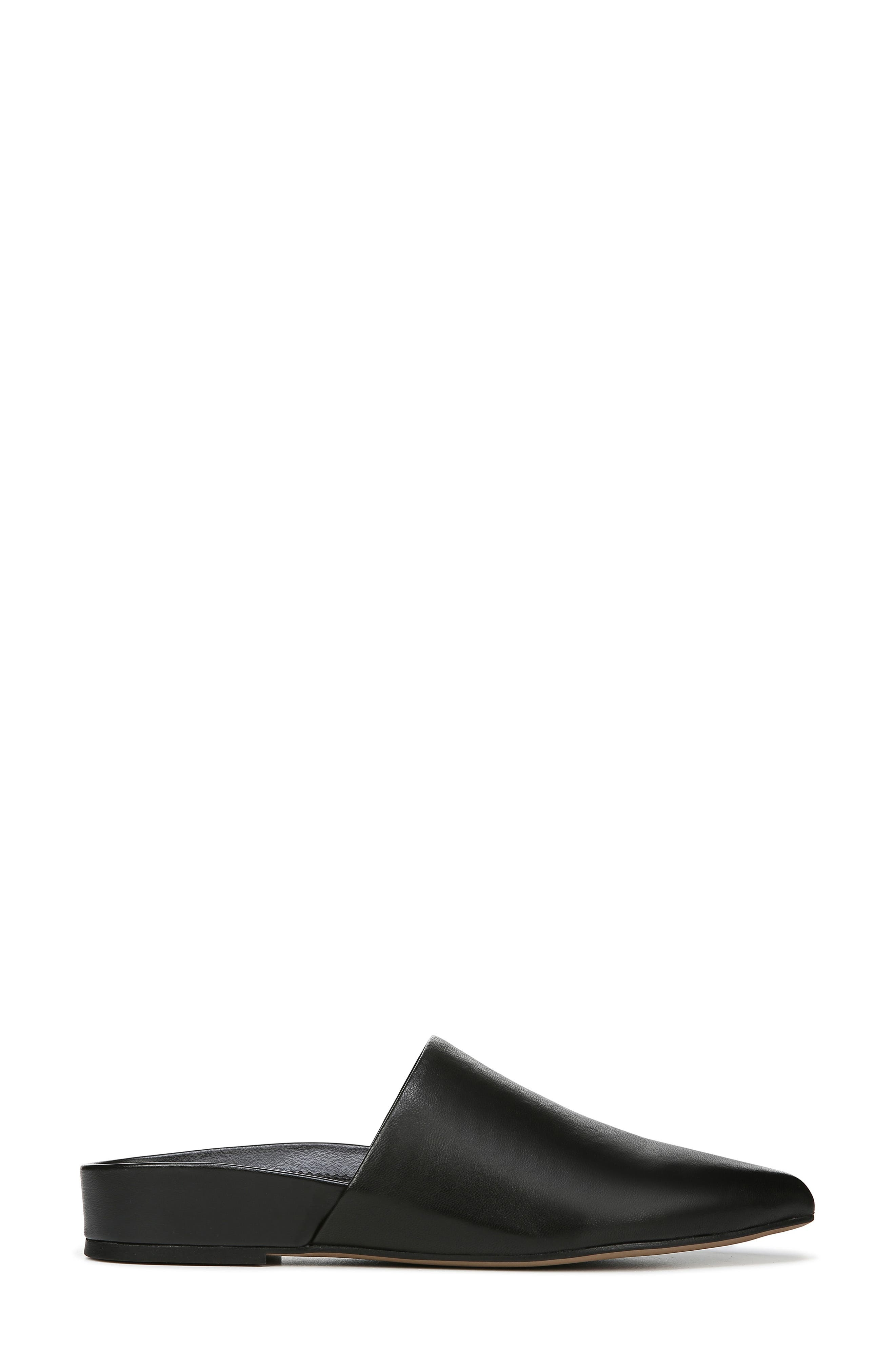 SARTO BY FRANCO SARTO,                             Irma Pointy Toe Mule,                             Alternate thumbnail 3, color,                             BLACK LEATHER