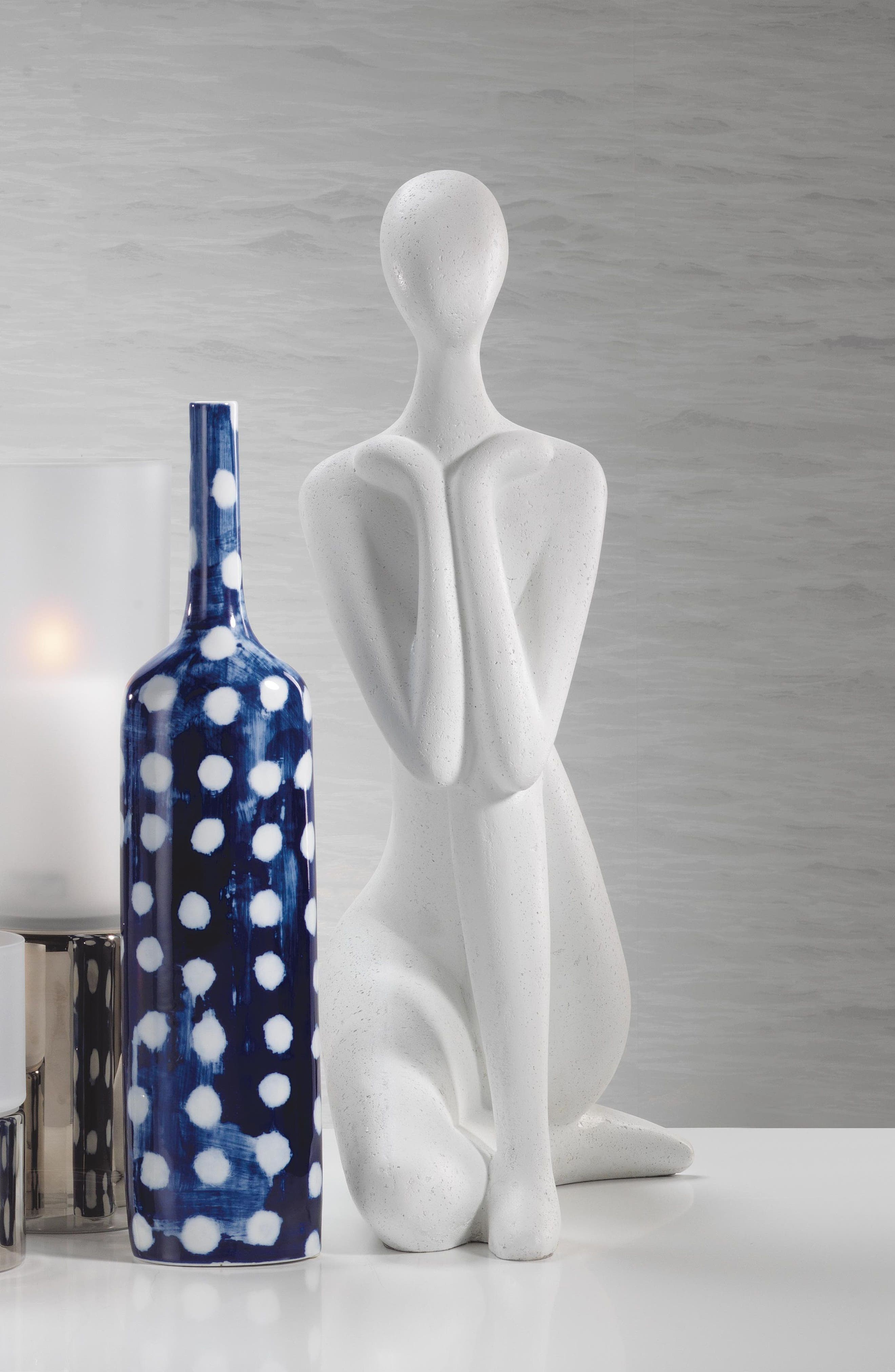 Yahto Decorative Ceramic Bottle,                             Alternate thumbnail 2, color,                             400