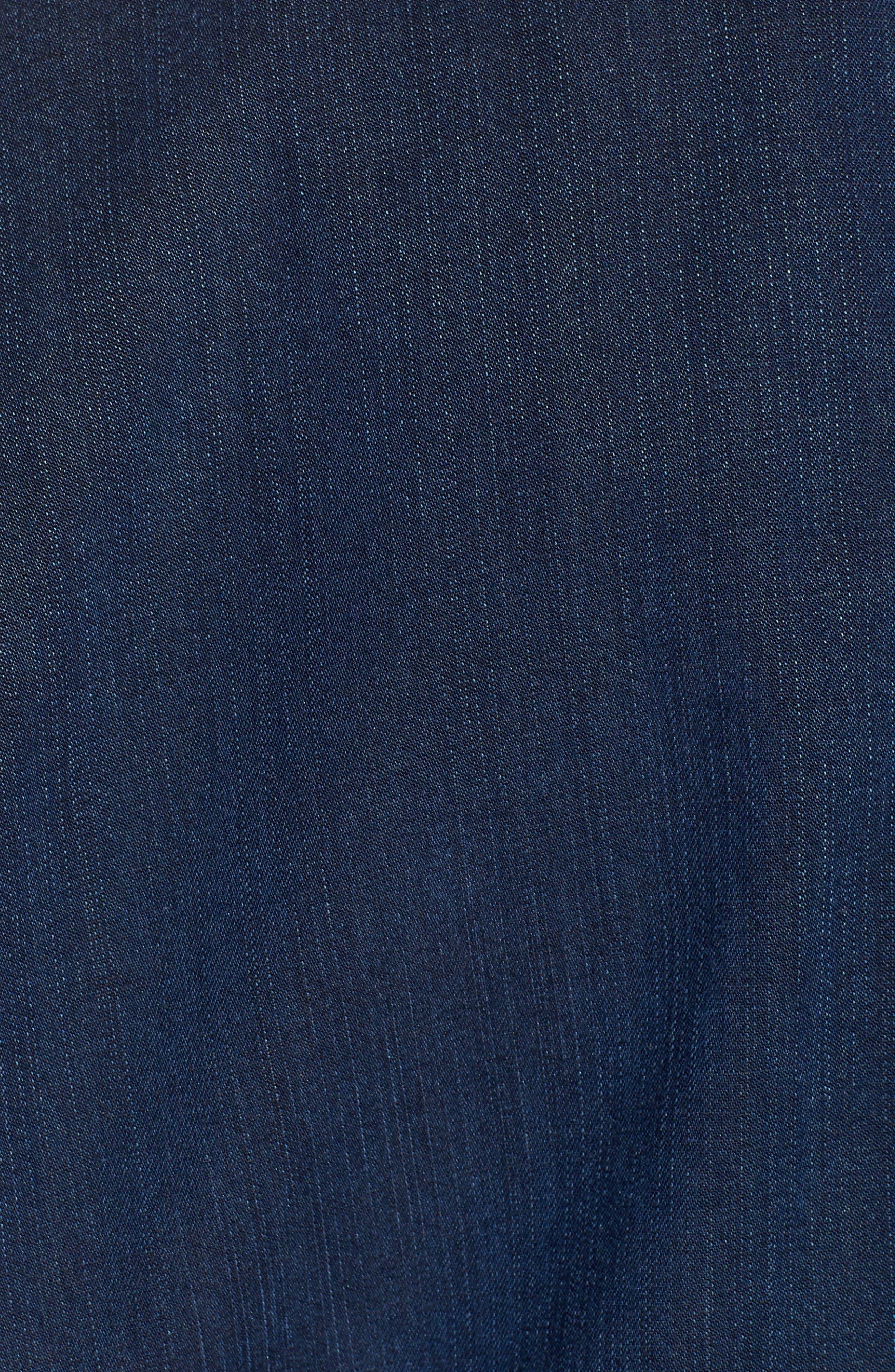Soft Cotton Blend Denim Jacket,                             Alternate thumbnail 7, color,                             419