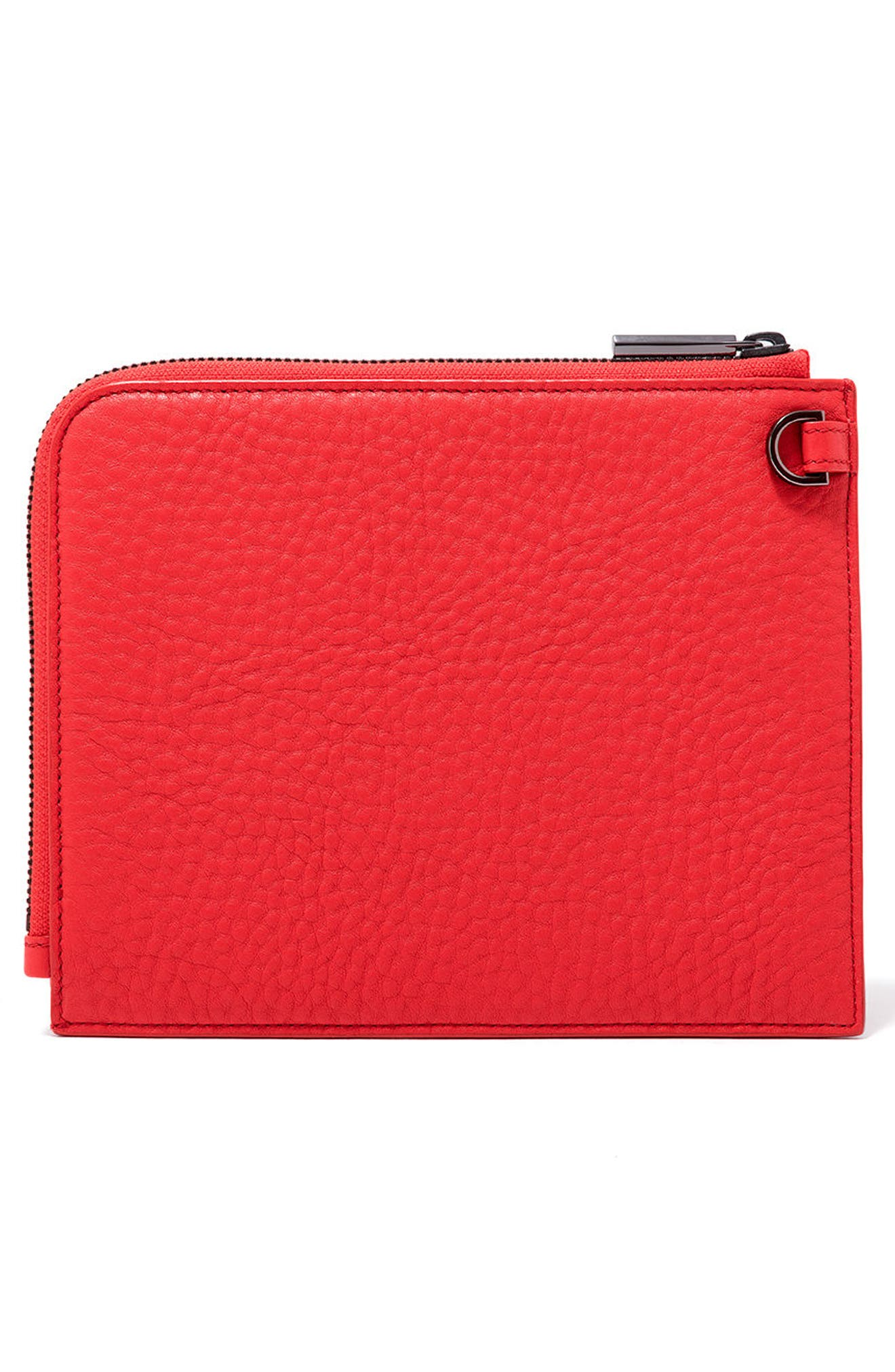 Small Elle Leather Clutch,                             Alternate thumbnail 14, color,