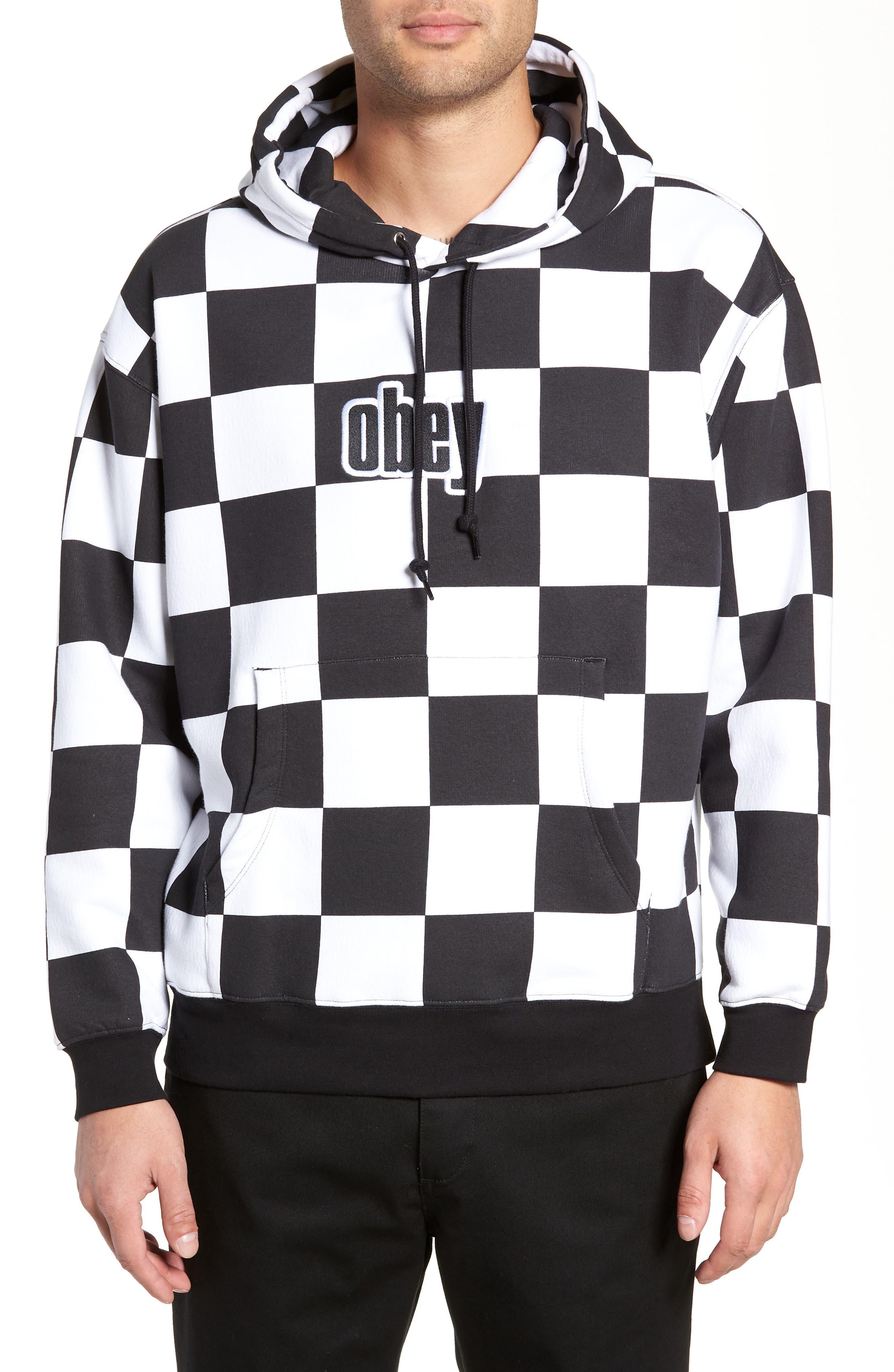 OBEY Gusto Hooded Sweatshirt in Checker