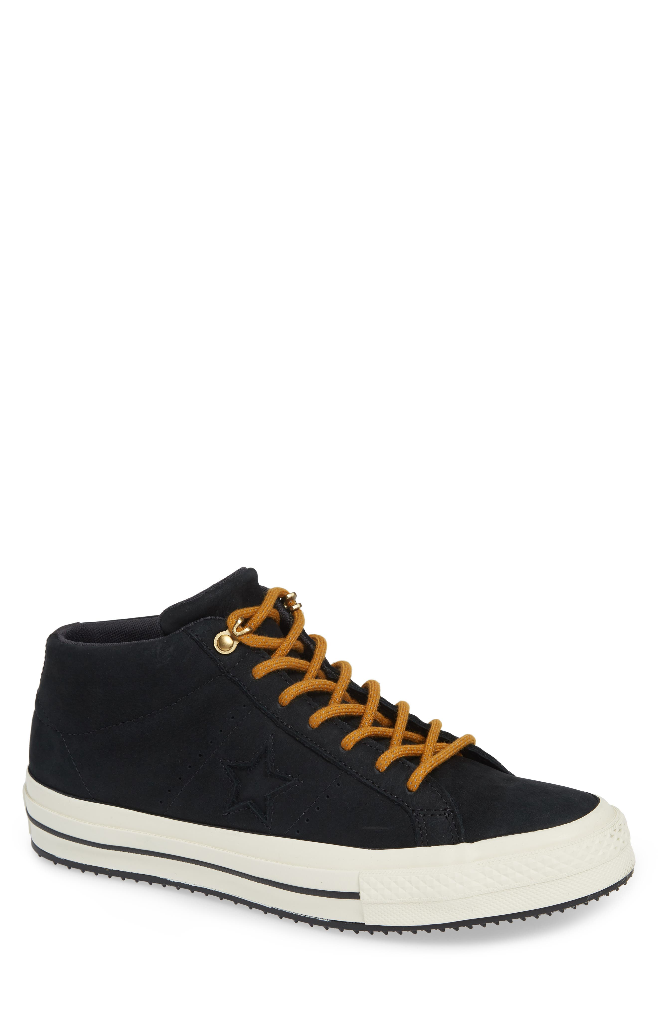 One Star Mid Counter Climate Scout Sneaker,                             Main thumbnail 1, color,                             BLACK/ BLUE HERO/ TEAK SUEDE