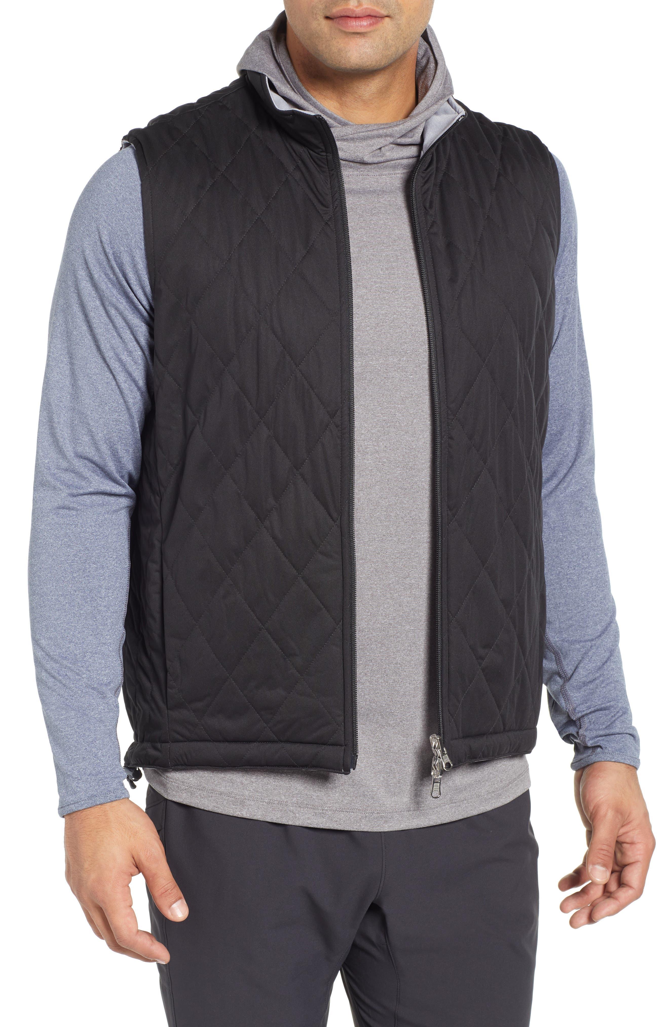 Deuce Regular Fit Reversible Quilted Vest,                             Main thumbnail 1, color,                             001