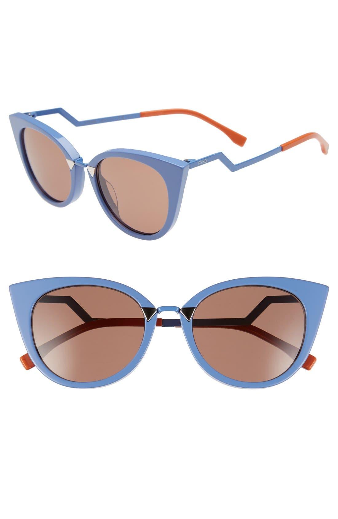 52mm Cat Eye Sunglasses,                             Main thumbnail 4, color,