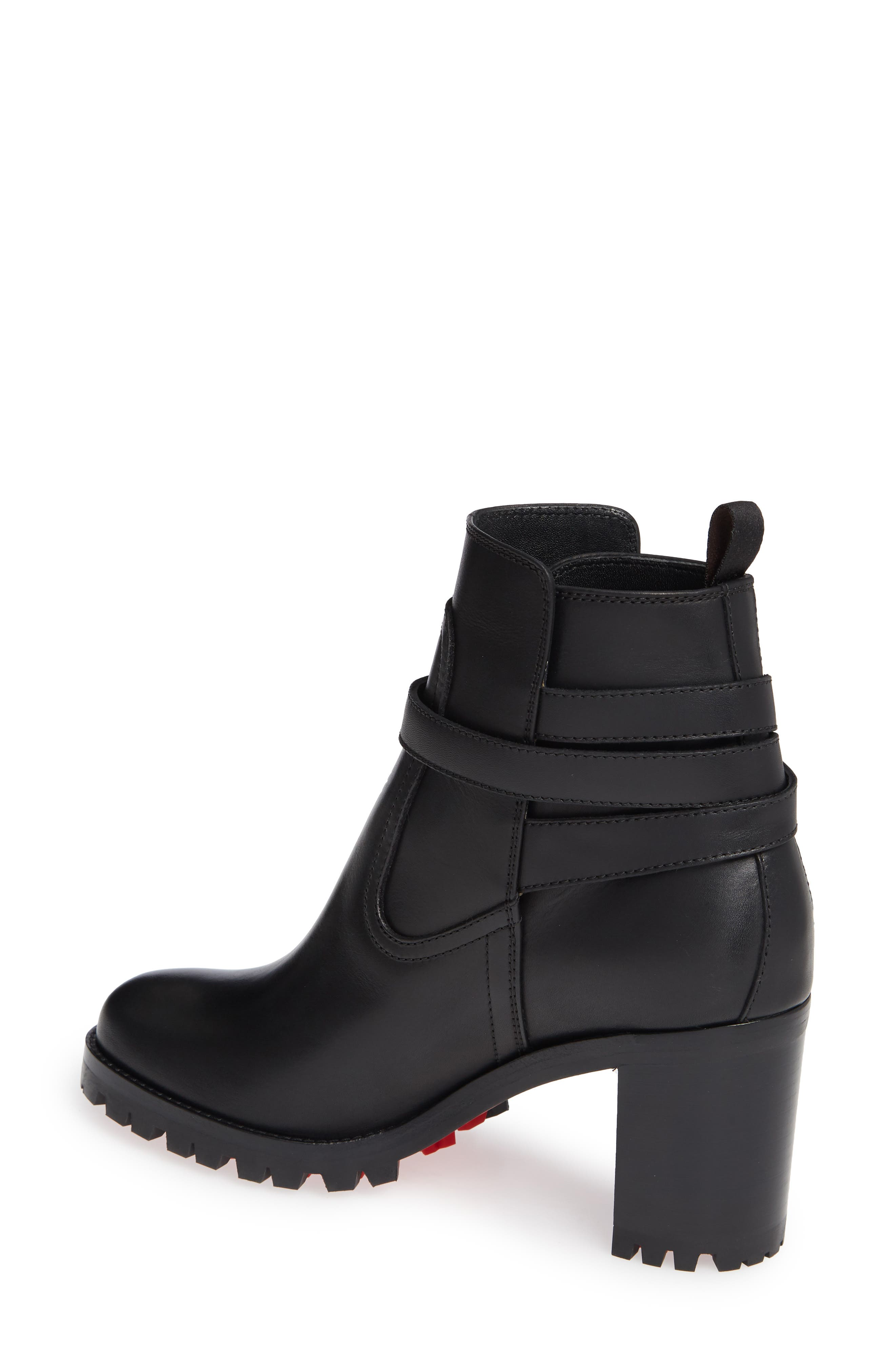 Trapeurdekoi Strappy Bootie,                             Alternate thumbnail 2, color,                             BLACK