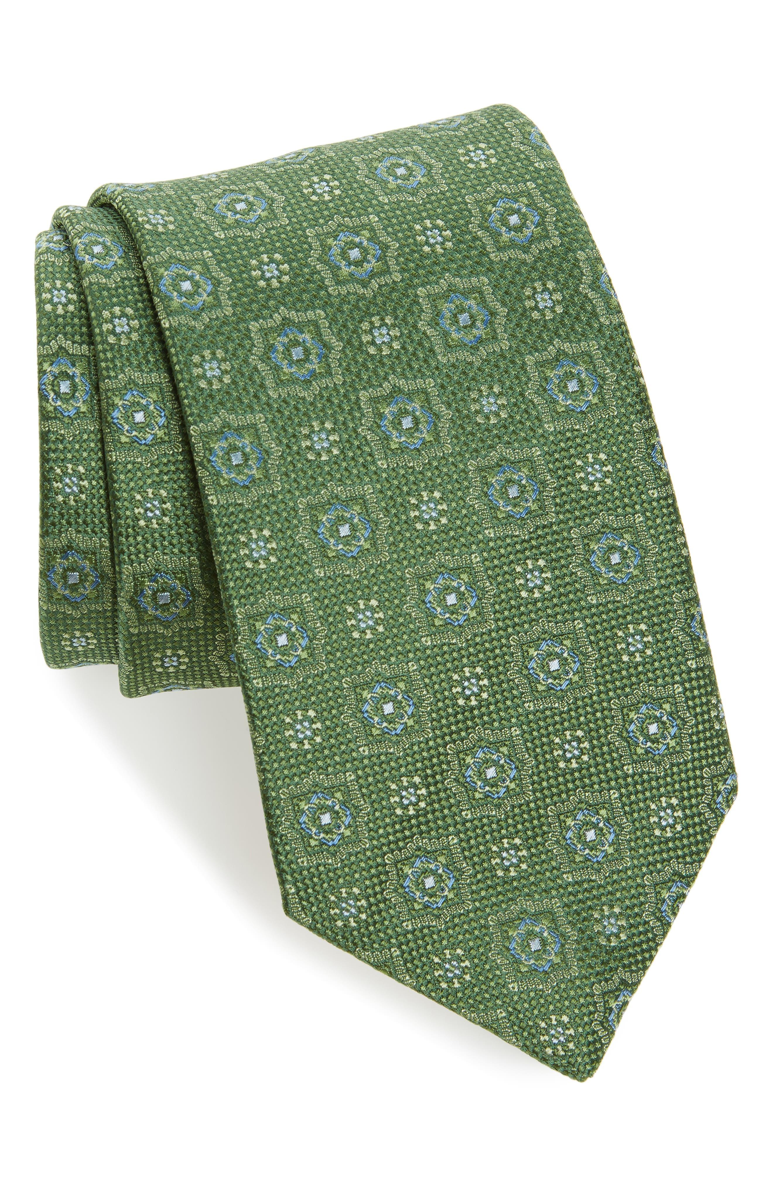 Medallion Silk Tie,                         Main,                         color, 314