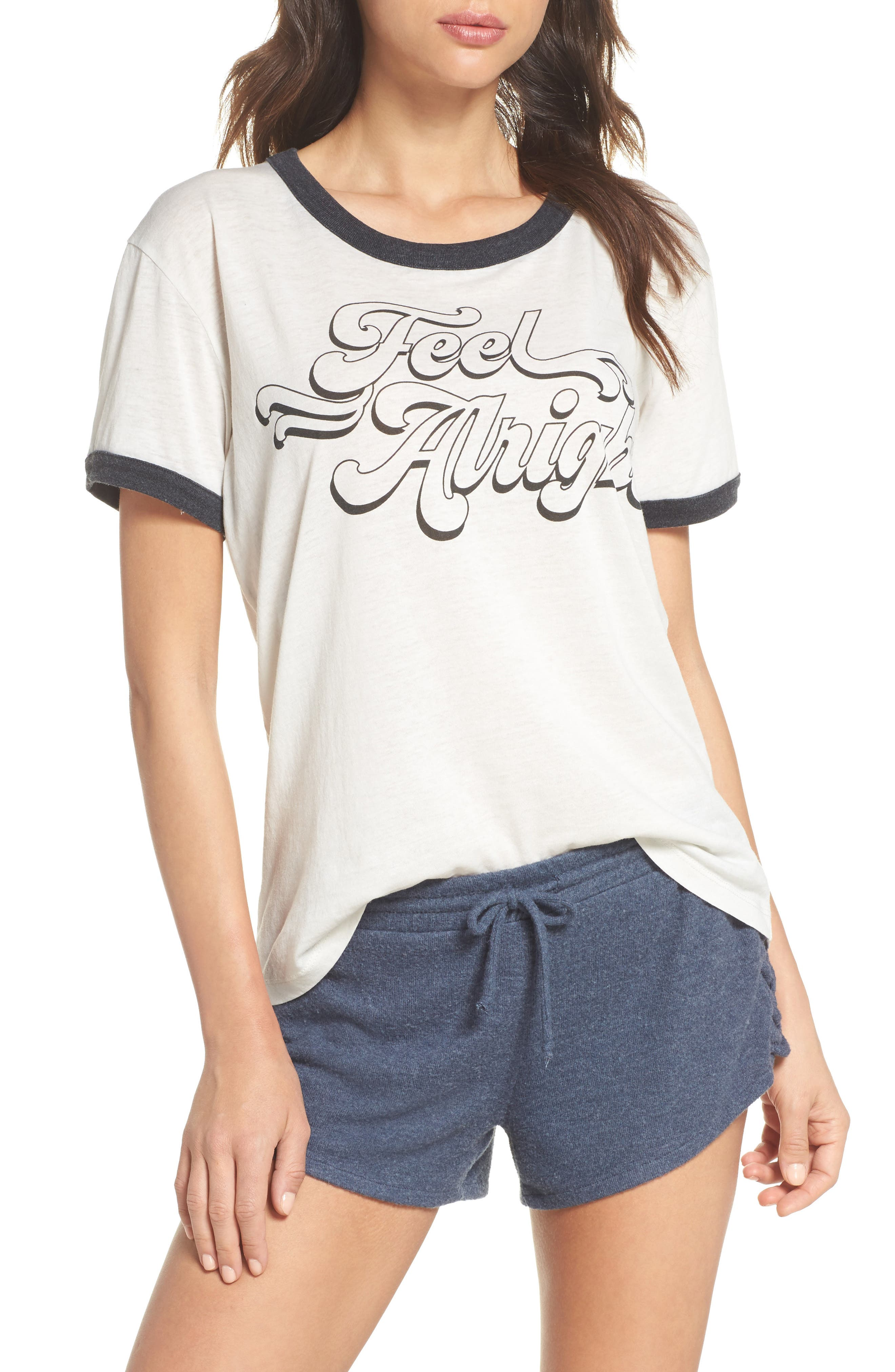 Feel Alright Ringer Tee,                         Main,                         color,