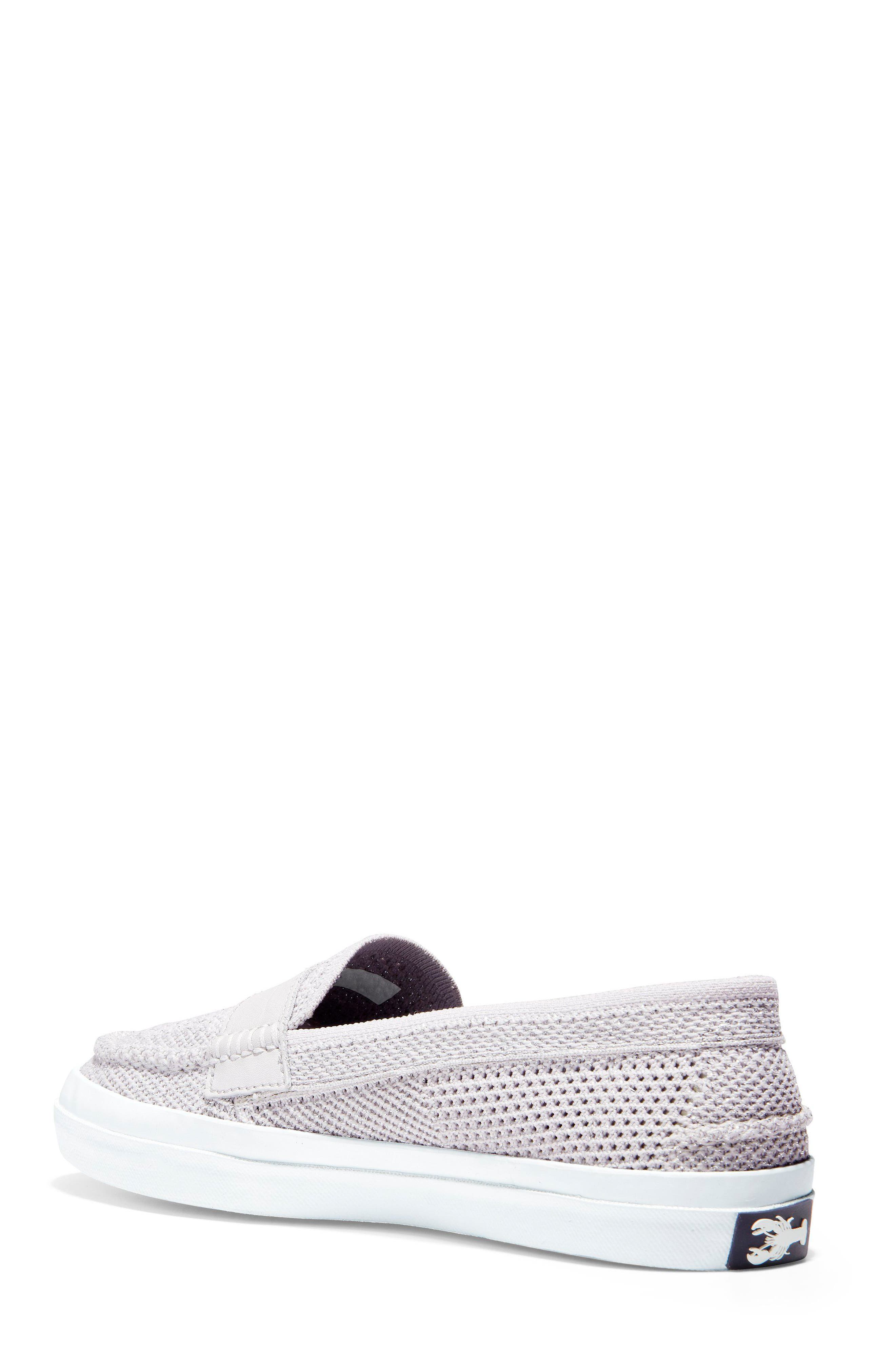 Pinch Stitchlite<sup>™</sup> Loafer,                             Alternate thumbnail 2, color,                             SILVER/ WHITE LEATHER
