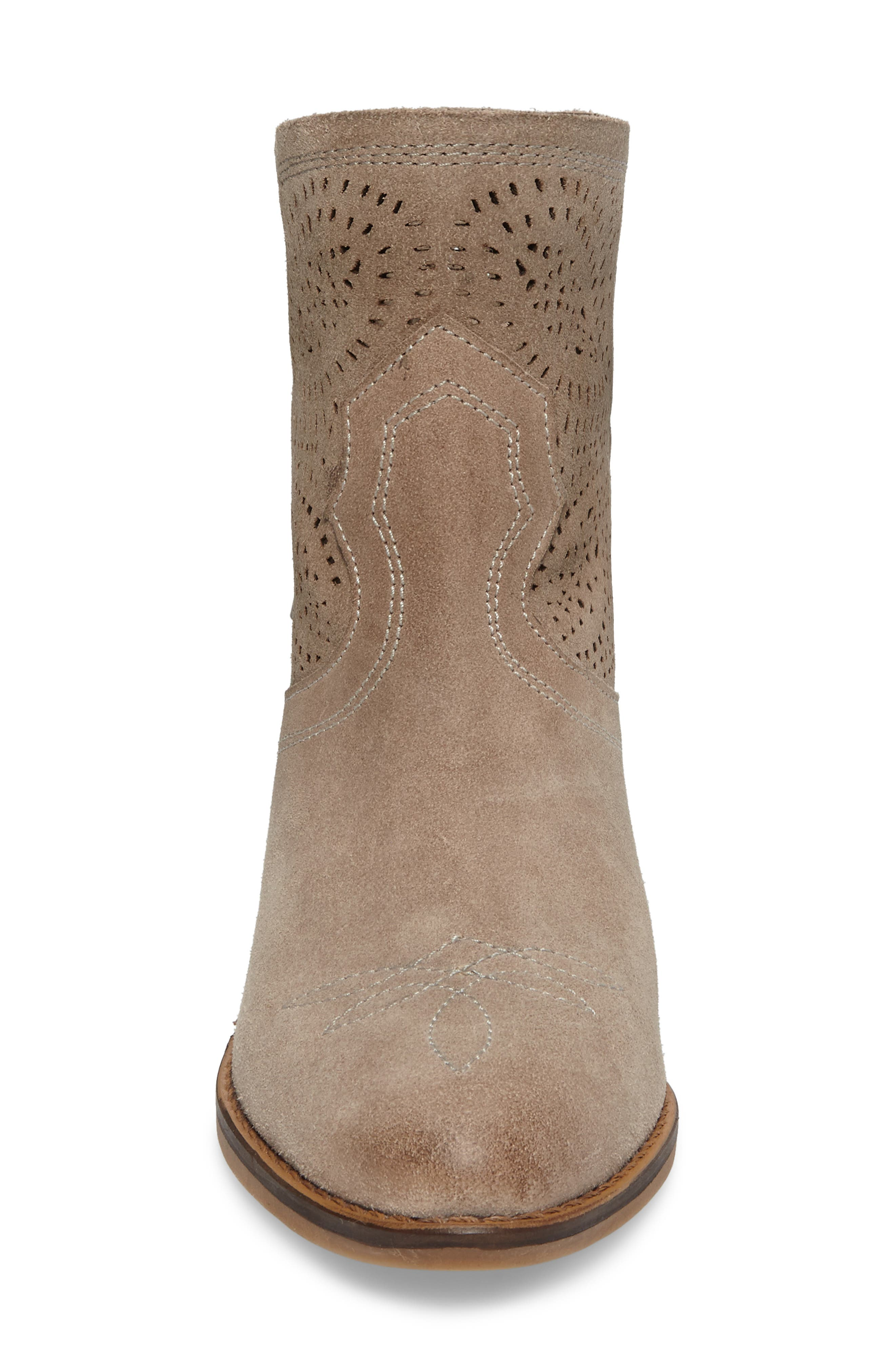 Zoey Perforated Bootie,                             Alternate thumbnail 15, color,