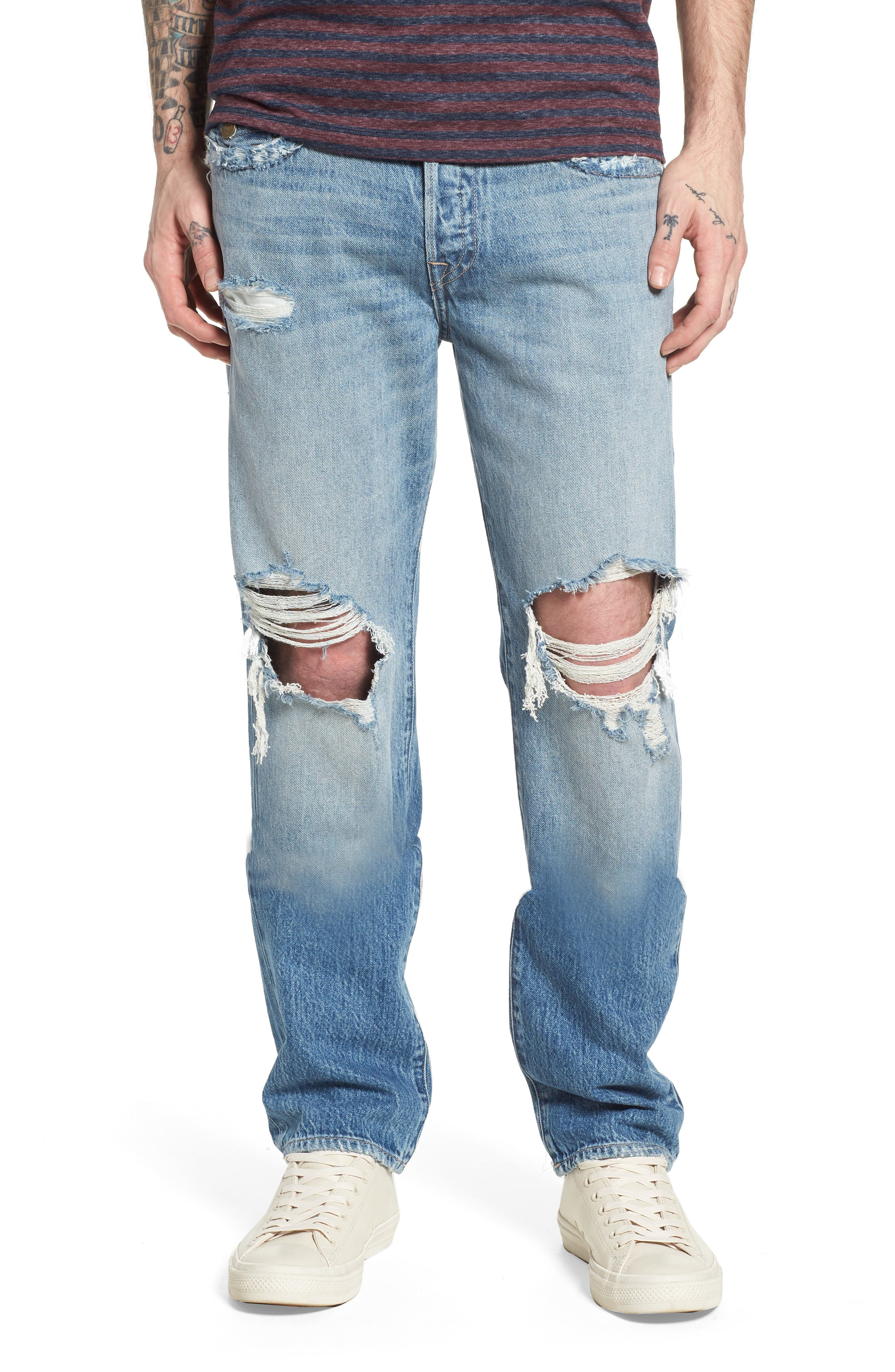 TRUE RELIGION BRAND JEANS,                             Geno Straight Leg Jeans,                             Main thumbnail 1, color,                             EQNM DELINGUENT