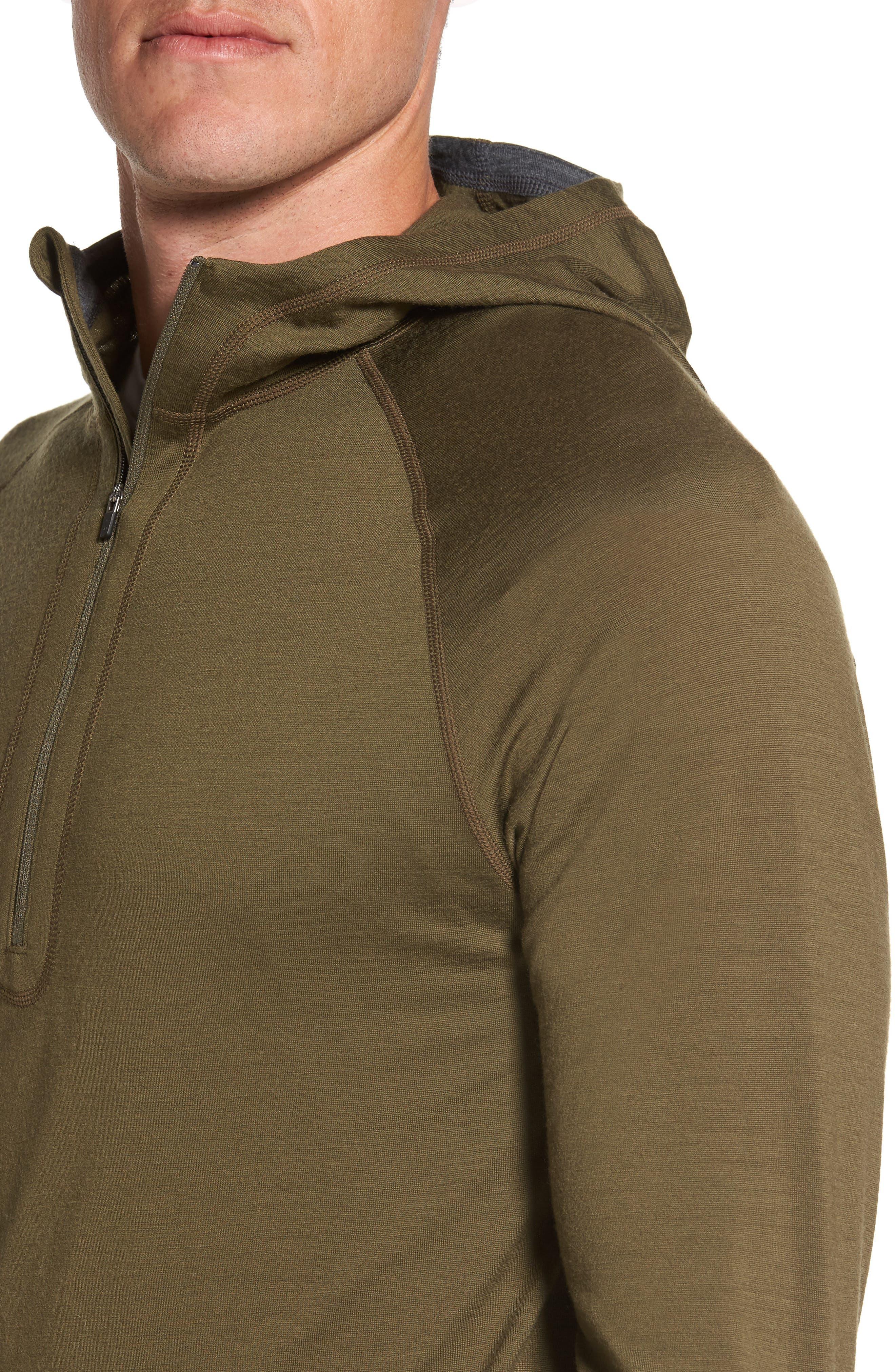 'Indie' Merino Wool Quarter Zip Hoodie,                             Alternate thumbnail 4, color,                             250