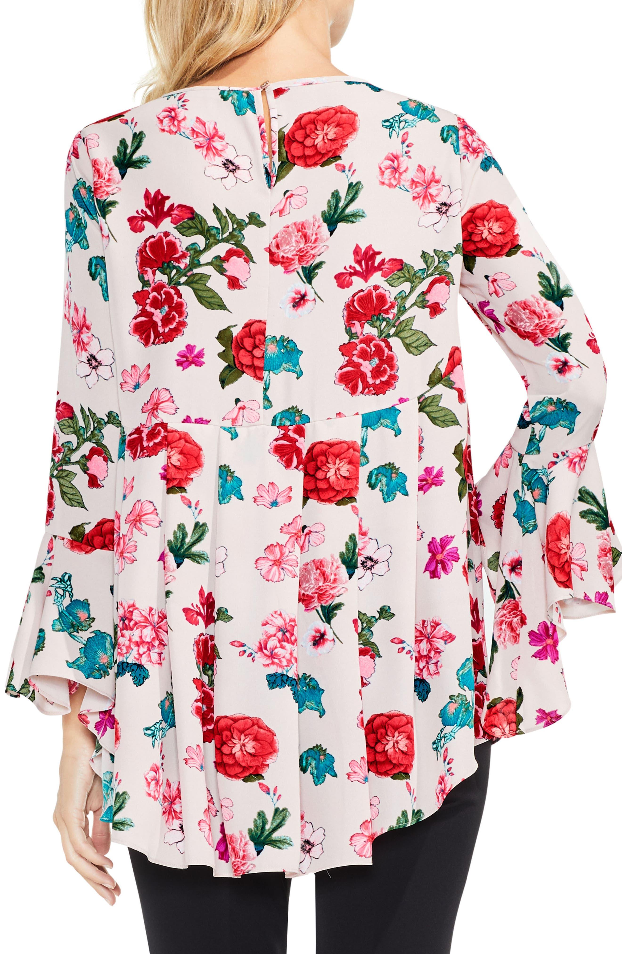 Floral Heirloom Bell Sleeve Top,                             Alternate thumbnail 6, color,