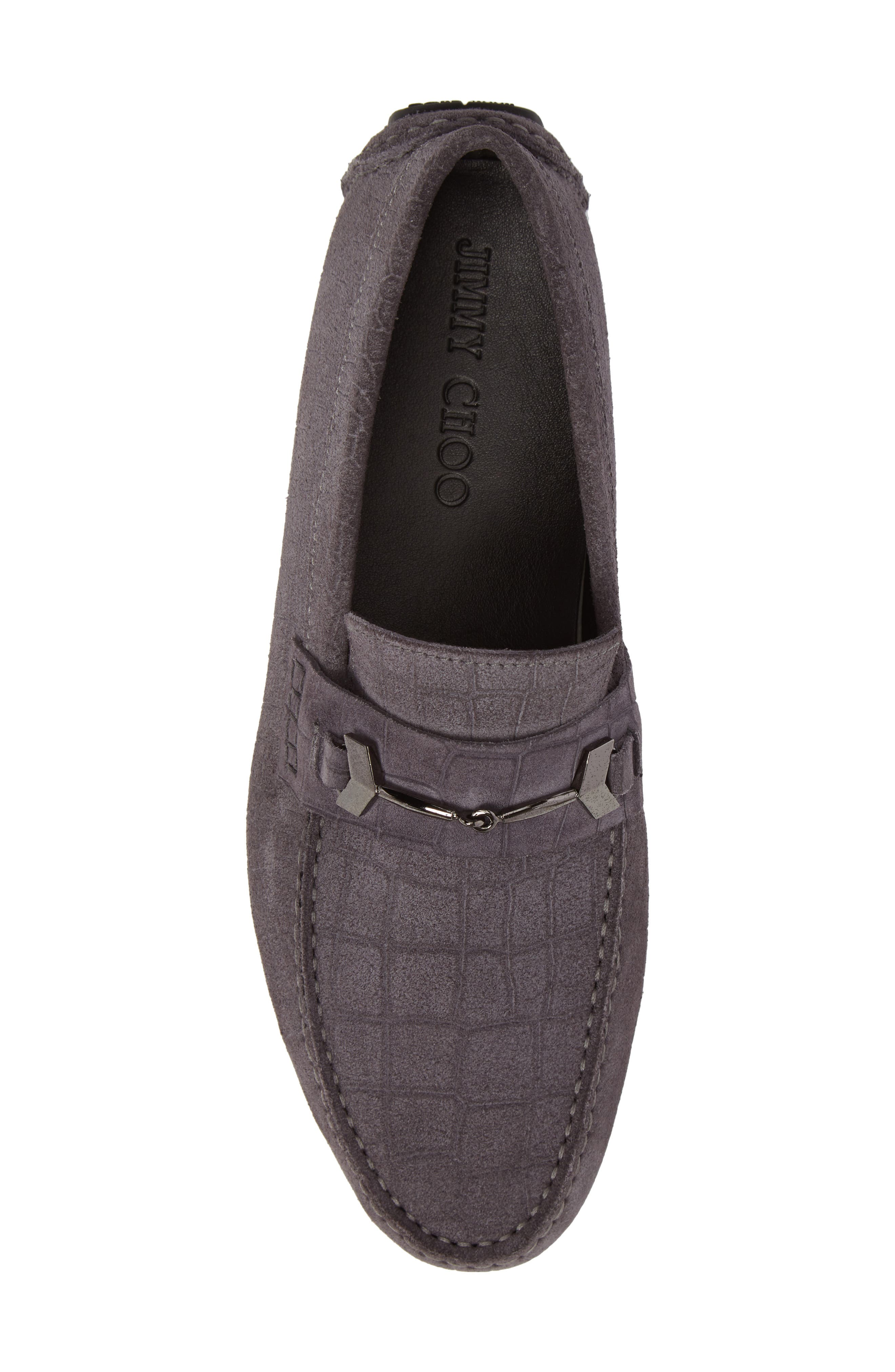 Brewer Croc Textured Driving Loafer,                             Alternate thumbnail 10, color,