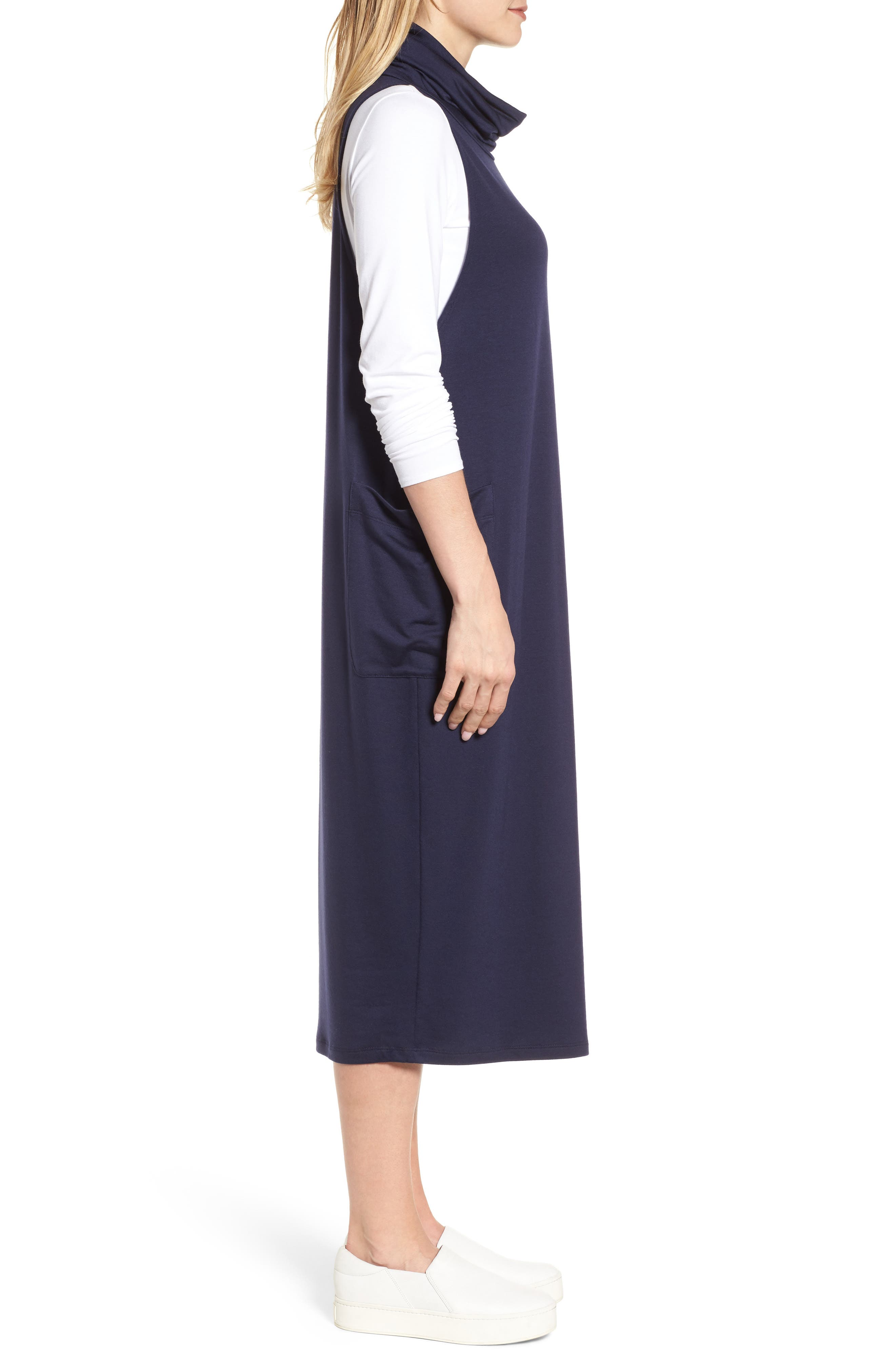 Stretch Tencel<sup>®</sup> Lyocell Knit Jumper Dress,                             Alternate thumbnail 9, color,