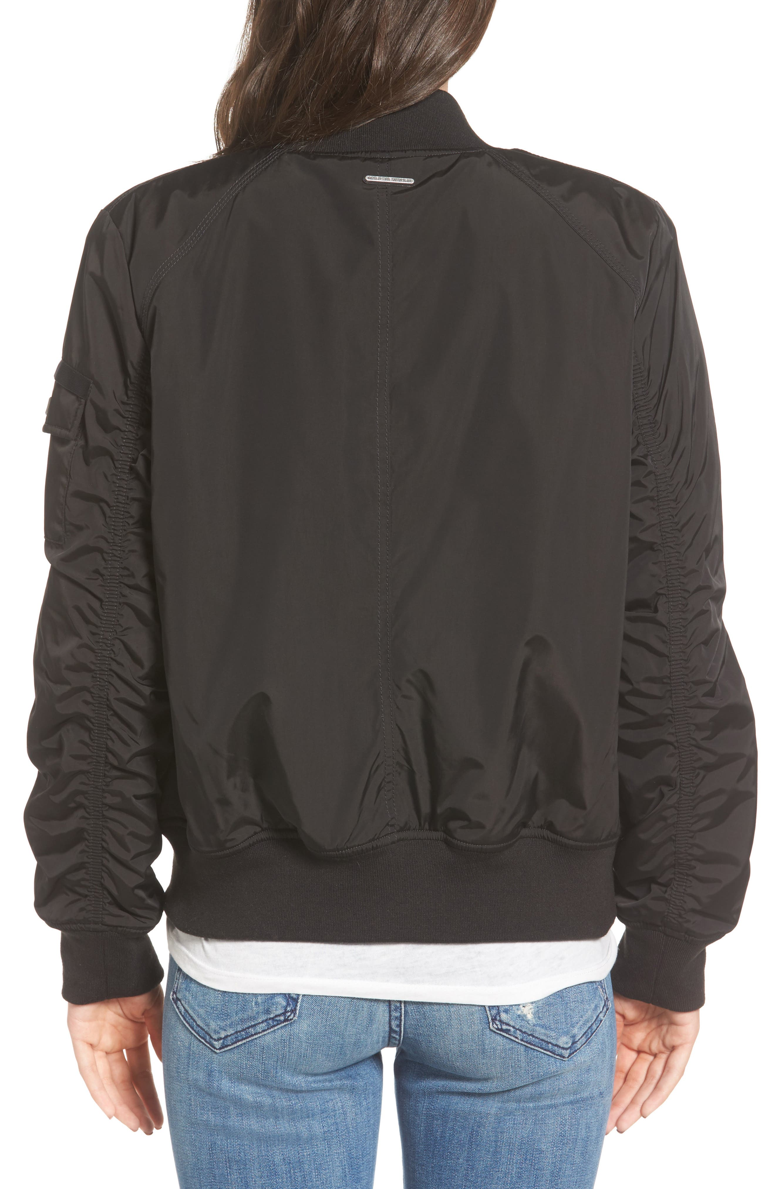 Andrew Marc Nicole Reversible Bomber Jacket,                             Alternate thumbnail 2, color,                             001