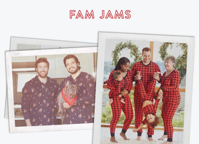 Fam jams: matching pajamas for the whole family.