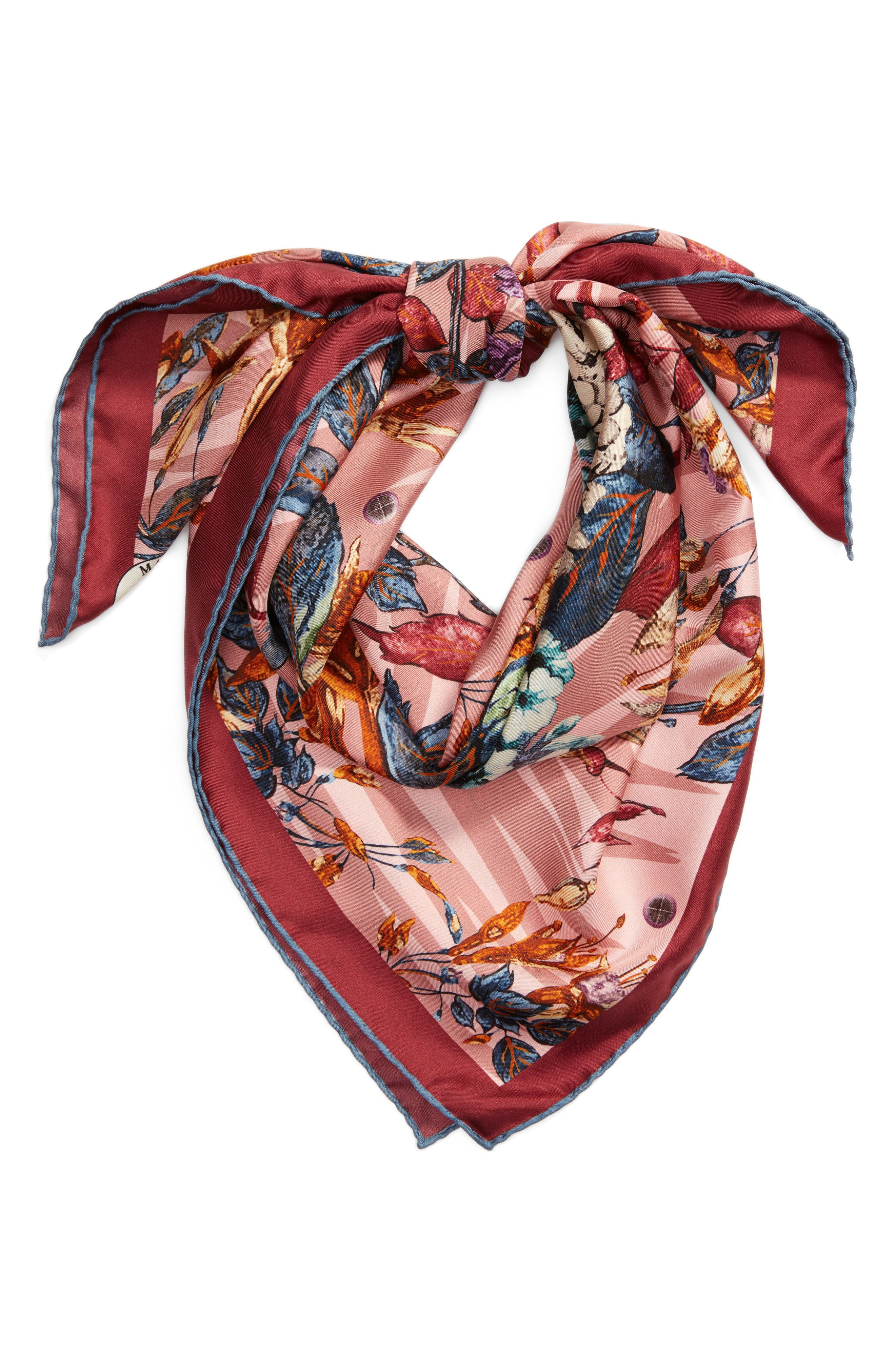 Tra le Righe Square Silk Scarf,                             Alternate thumbnail 6, color,