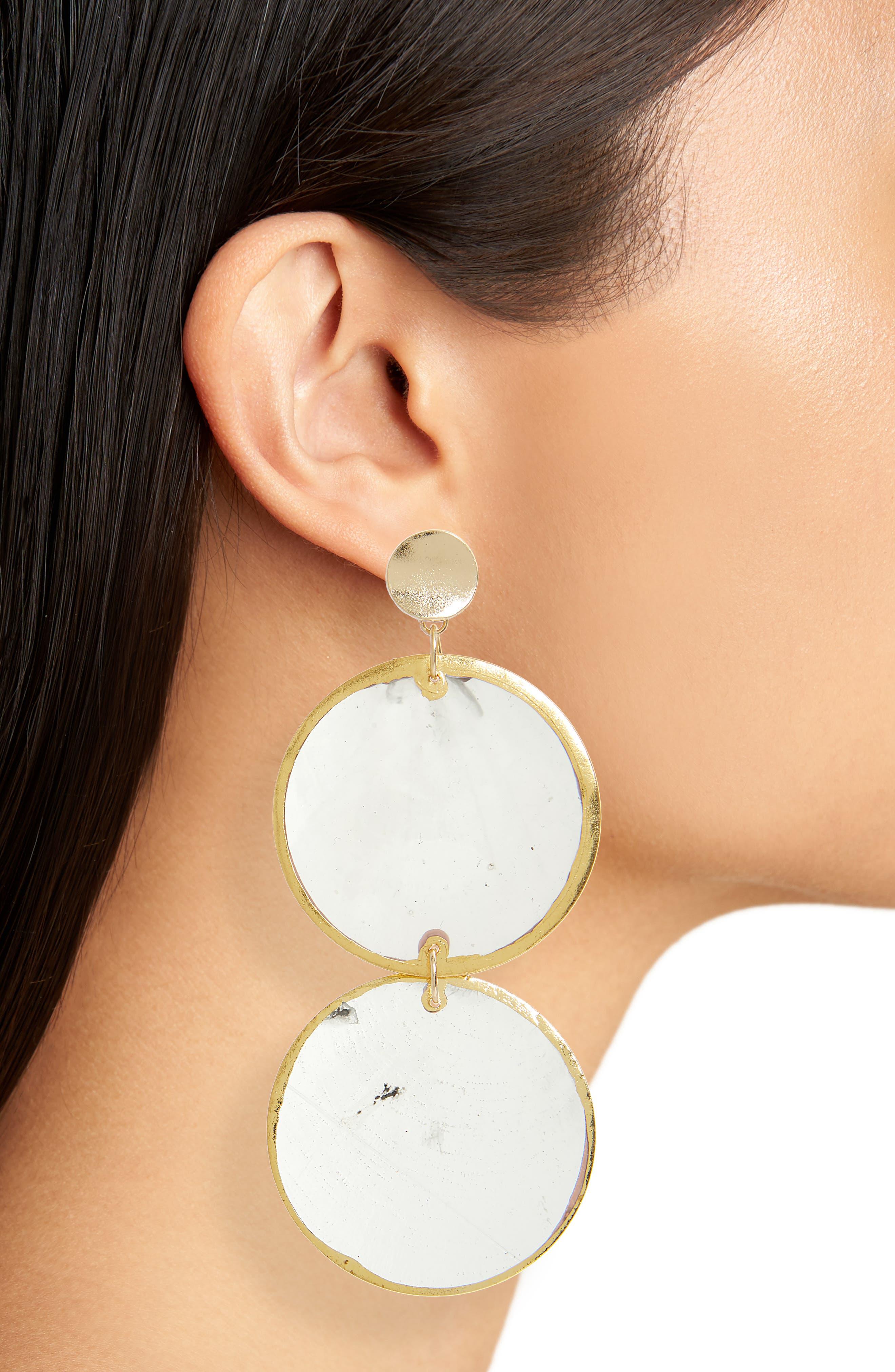Shell Drop Earrings,                             Alternate thumbnail 2, color,                             710