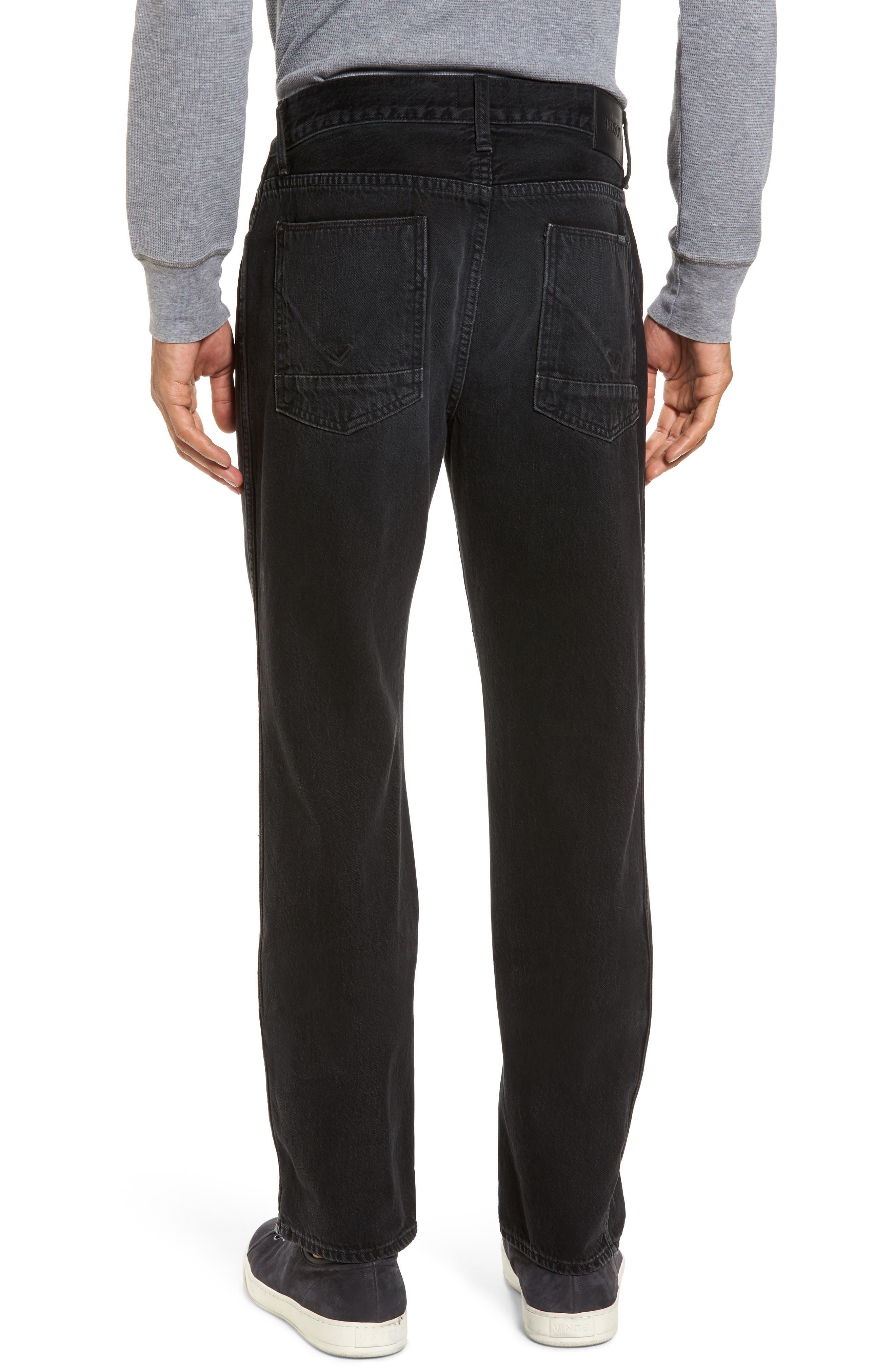 Dixon Straight Fit Jeans,                             Alternate thumbnail 2, color,                             001