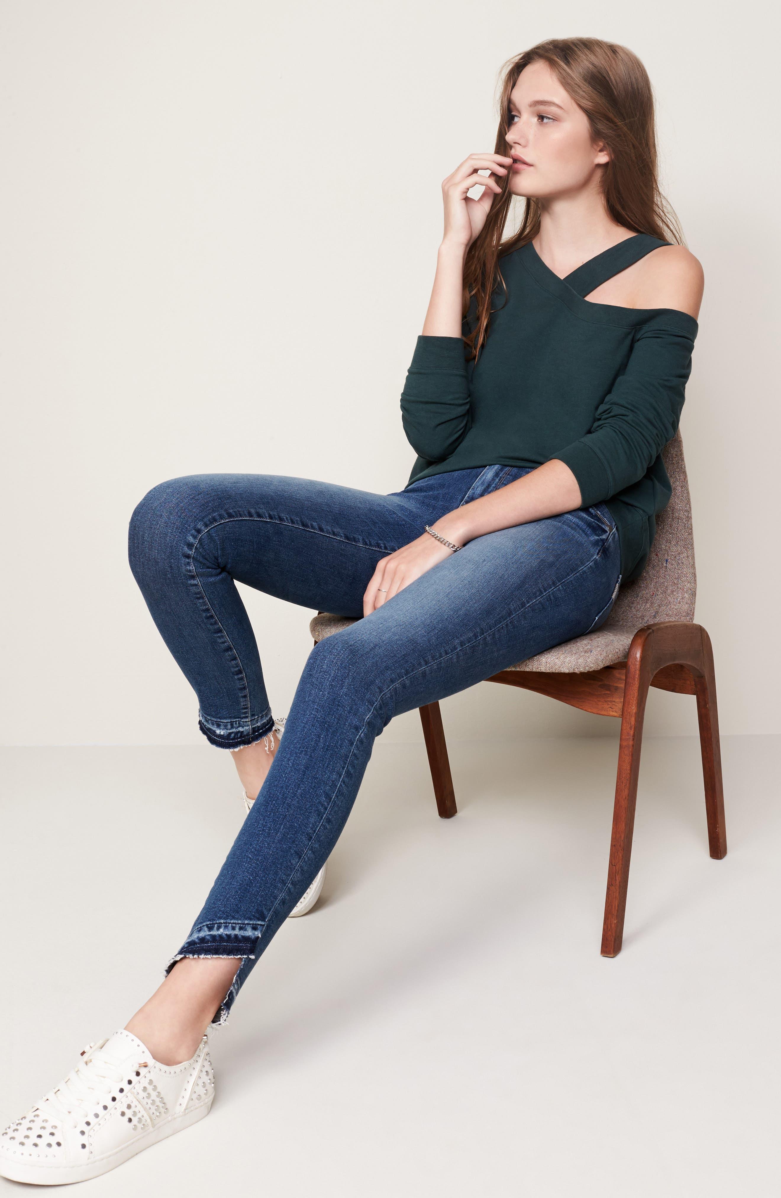 Asymmetrical Sweatshirt,                             Alternate thumbnail 7, color,                             300