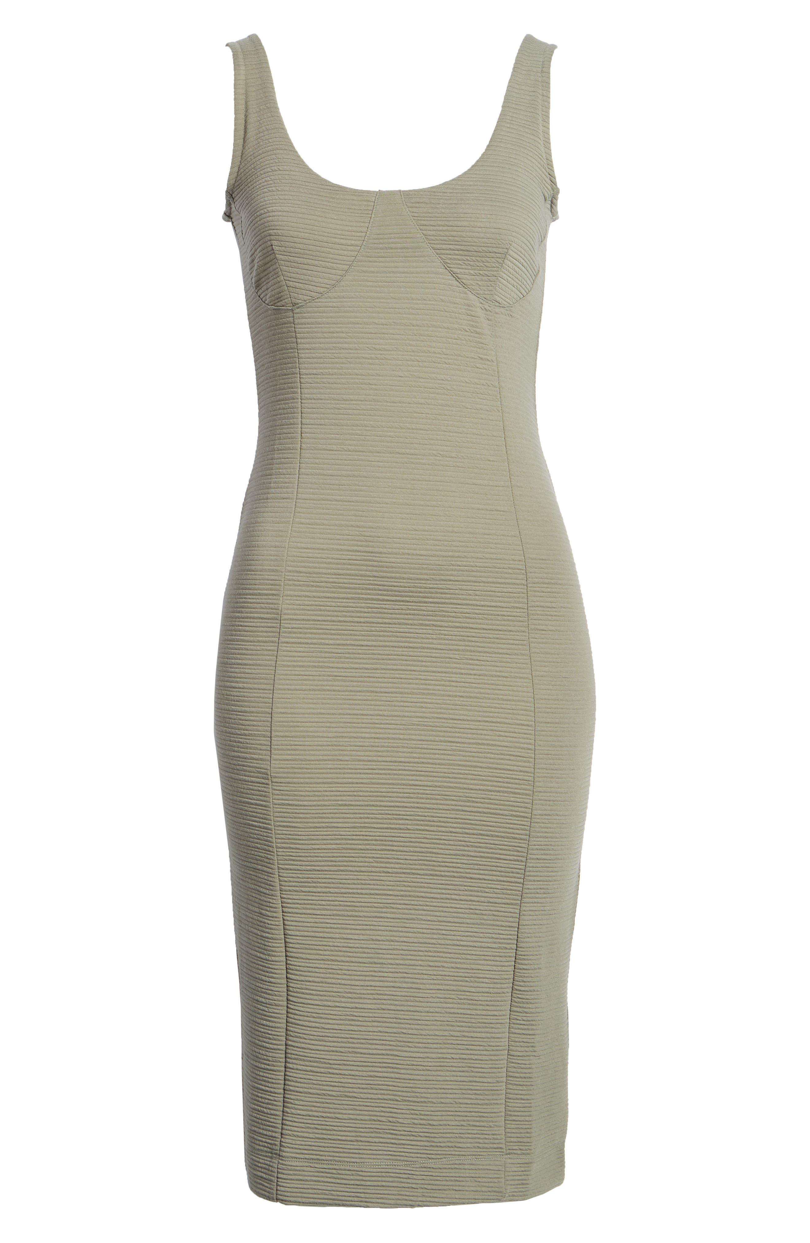 Underbust Rib Body-Con Dress,                             Alternate thumbnail 10, color,